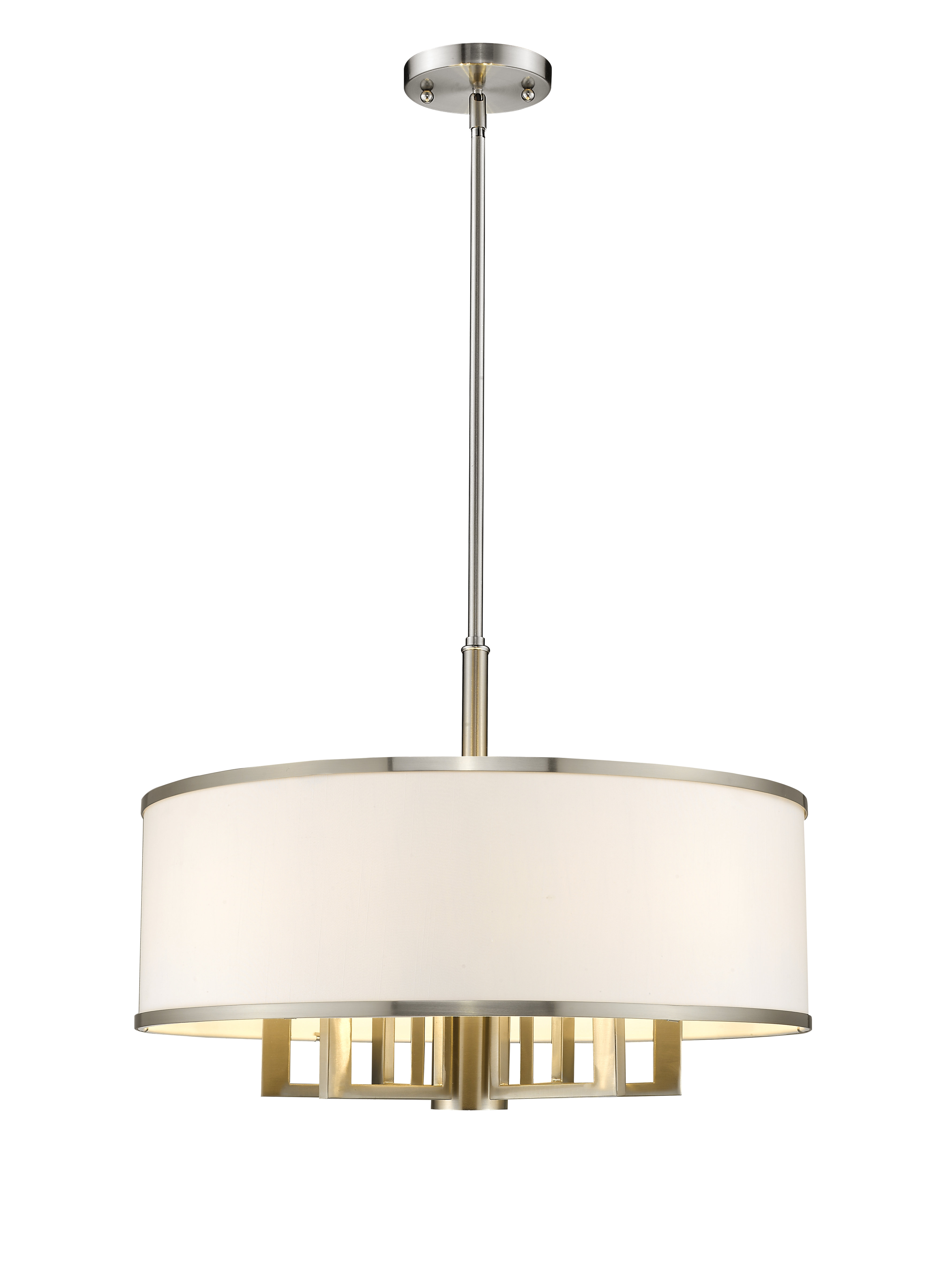 Most Popular Modern & Contemporary Linen Drum Shade Chandelier (View 12 of 25)
