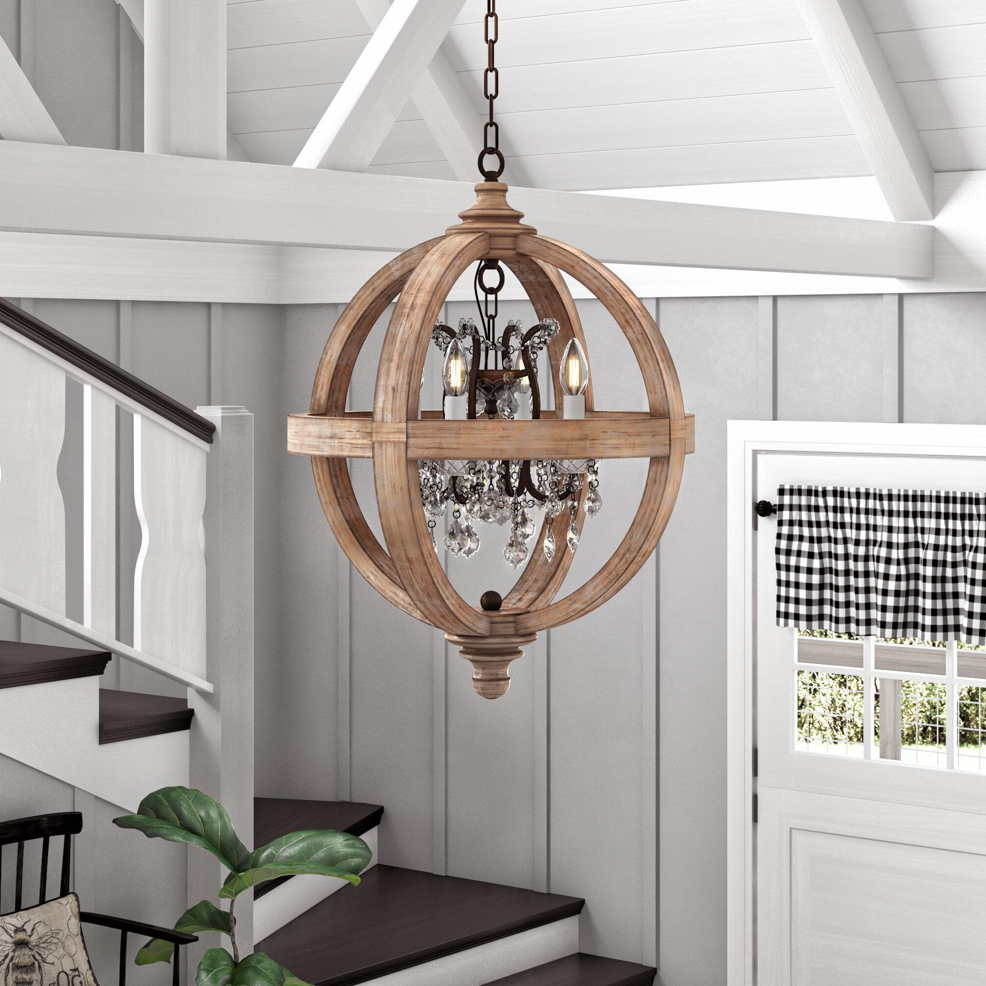 Most Popular Montecito 4 Light Globe Chandelier Throughout Filipe Globe Chandeliers (View 17 of 25)