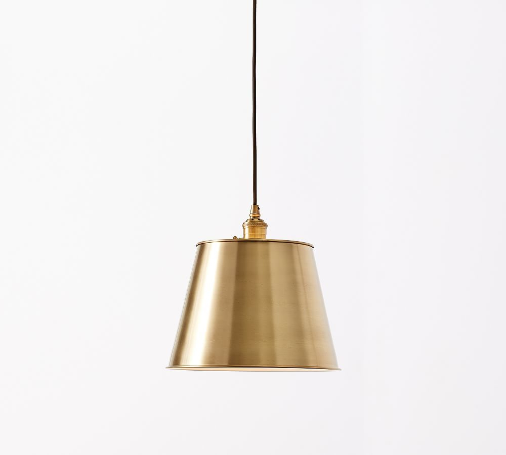 Most Popular Nadeau 1 Light Single Cone Pendants With Pb Classic Cord Pendant – Tapered Metal Shade (View 9 of 25)