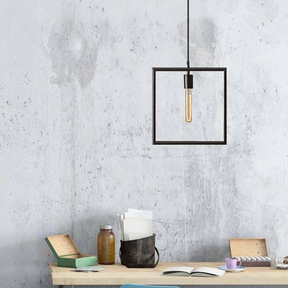Most Popular Nordic E27 Iron Geometry Hang Droplight Adjustable Ceiling Pendant Lamp (E) Regarding Rossi Industrial Vintage 1 Light Geometric Pendants (View 11 of 25)