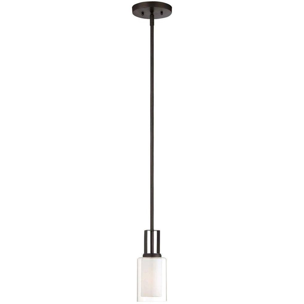 Most Popular Parsons Studio 1 Light Smoked Iron Mini Pendant In Schutt 1 Light Cylinder Pendants (View 11 of 25)