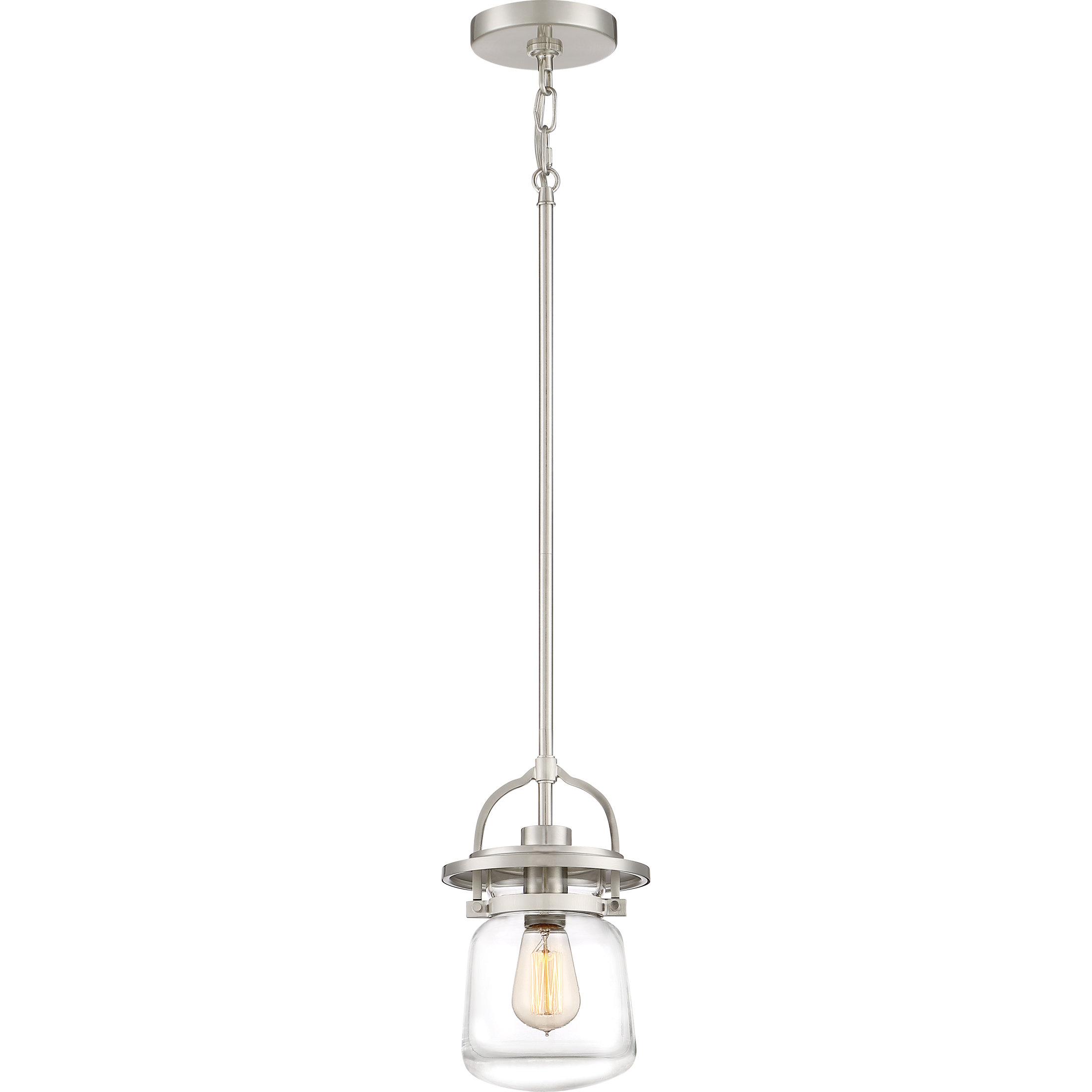 Most Popular Roslindale 1 Light Single Bell Pendants In Dickerson 1 Light Single Jar Pendant (View 15 of 25)