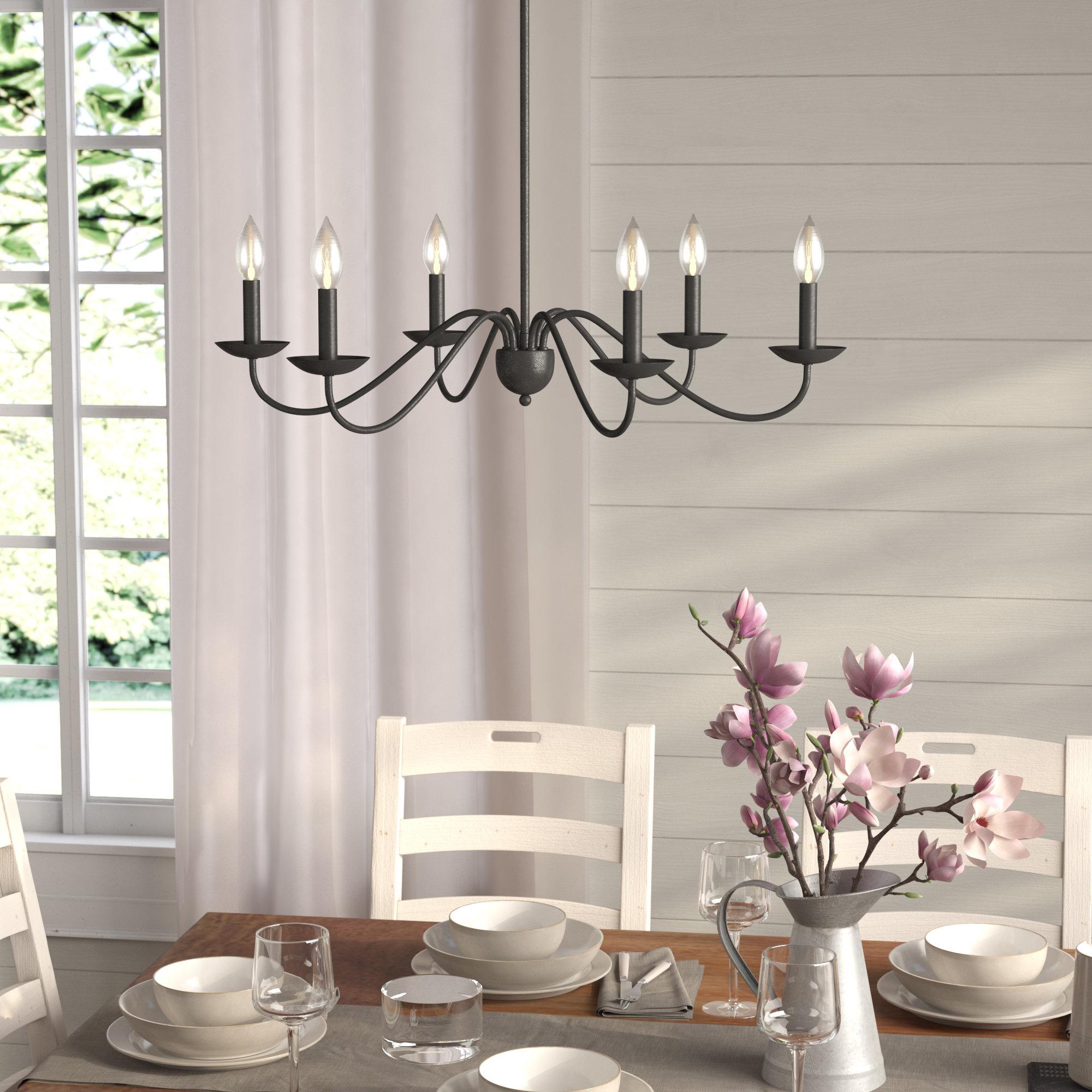 Most Popular Shaylee 6 Light Candle Style Chandeliers Regarding Perseus 6 Light Candle Style Chandelier (View 7 of 25)