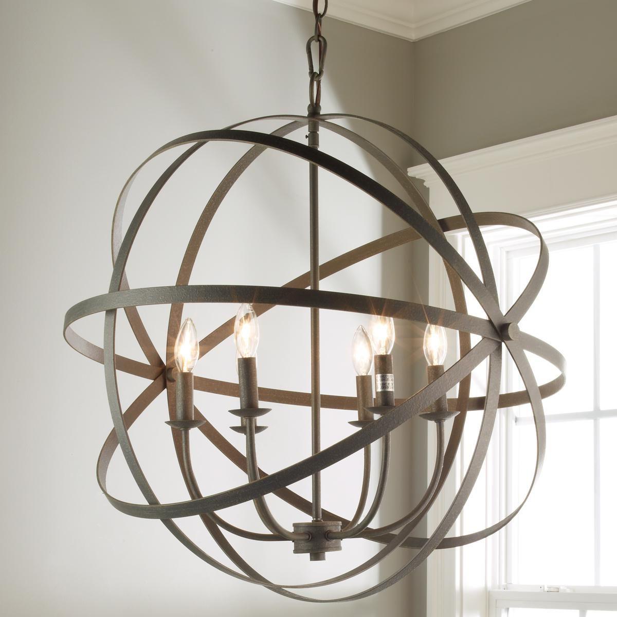 Most Popular Zinc Orbit Globe Chandelier – 6 Light (View 20 of 25)