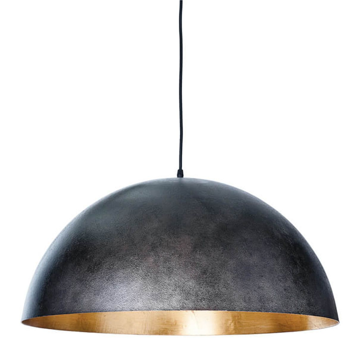 Most Recent Adriana Black 1 Light Single Dome Pendants Throughout Gym Lighting Sigmund Pendant Large (Black & Gold (View 18 of 25)