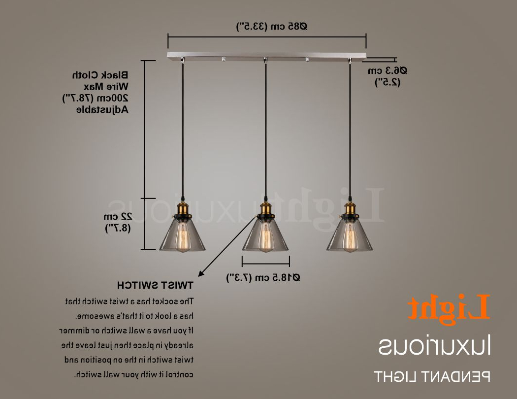 Most Recent Akash Industrial Vintage 1 Light Geometric Pendants Within Details About Pendant Ceiling Light Lamp Shade Retro Style Lampshade  Chandelier Lights Kitchen (View 14 of 25)