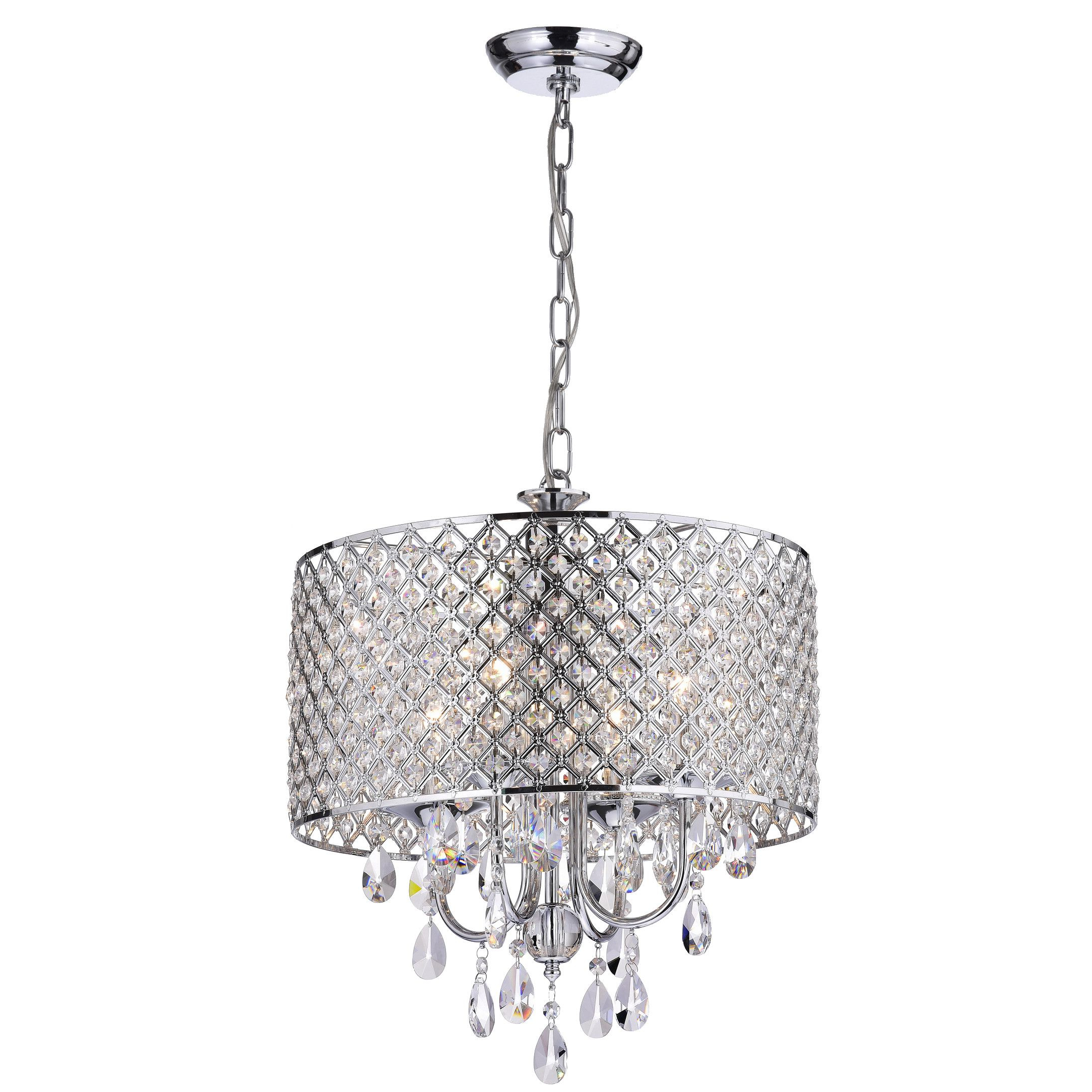 Most Recent Aurore 4 Light Crystal Chandeliers With Regard To Edvivi Marya 4 Light Crystal Chandelier (View 17 of 25)