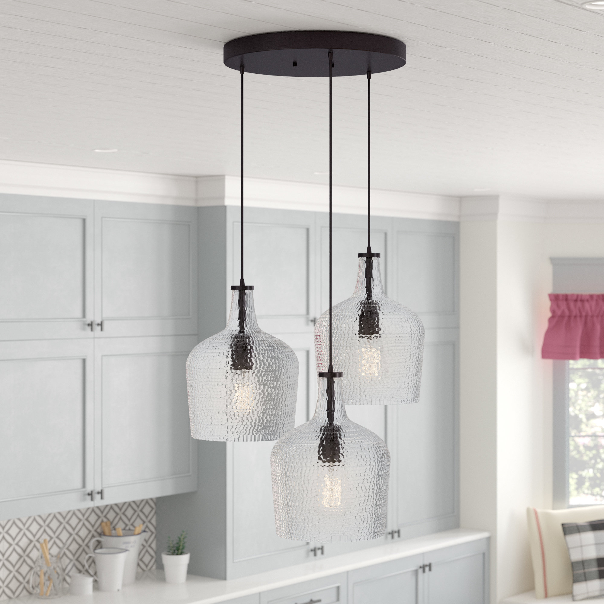 Most Recent Berenice 3 Light Cluster Teardrop Pendants Intended For 3 Light Cluster Pendant Lighting You'll Love In  (View 15 of 25)
