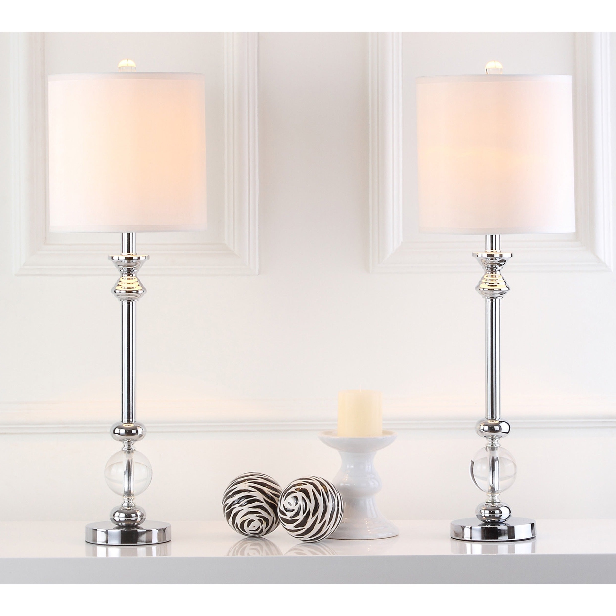"""Most Recent Camilla 9 Light Candle Style Chandeliers With Safavieh Lighting 31 Inch Crystal Erica Crystal Candlestick Lamp (Set Of 2)  – 10"""" X 10"""" X 31"""" (View 12 of 25)"""