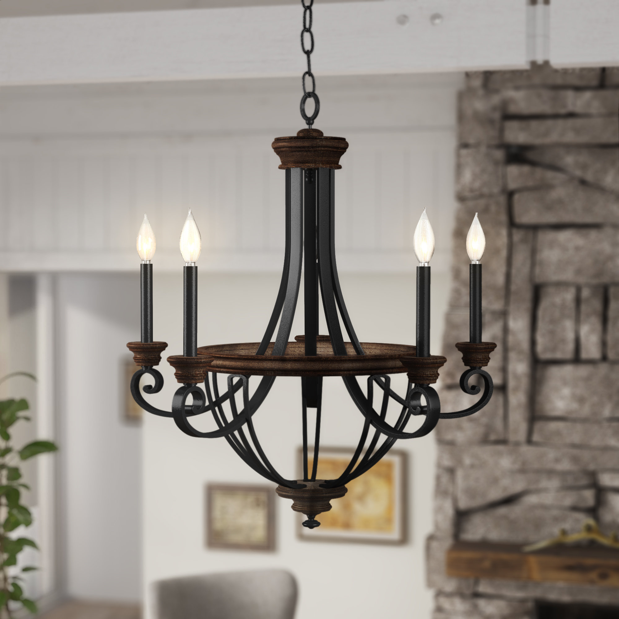 Most Recent Camilla 9 Light Candle Style Chandeliers Within Nanteuil 5 Light Empire Chandelier (View 13 of 25)