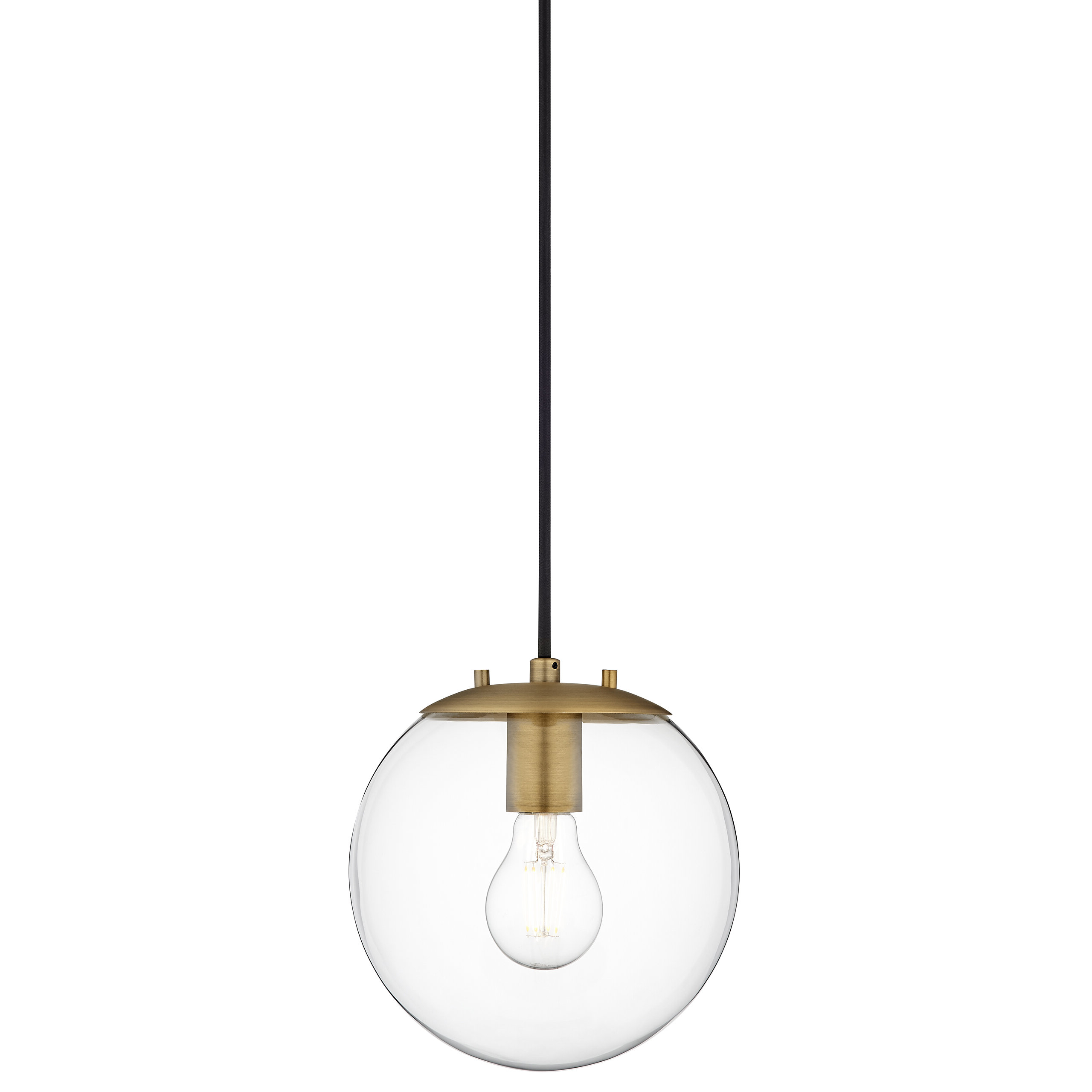 Most Recent Cayden 1 Light Single Globe Pendants Intended For Wysocki 1 Light Single Globe Pendant (View 12 of 25)