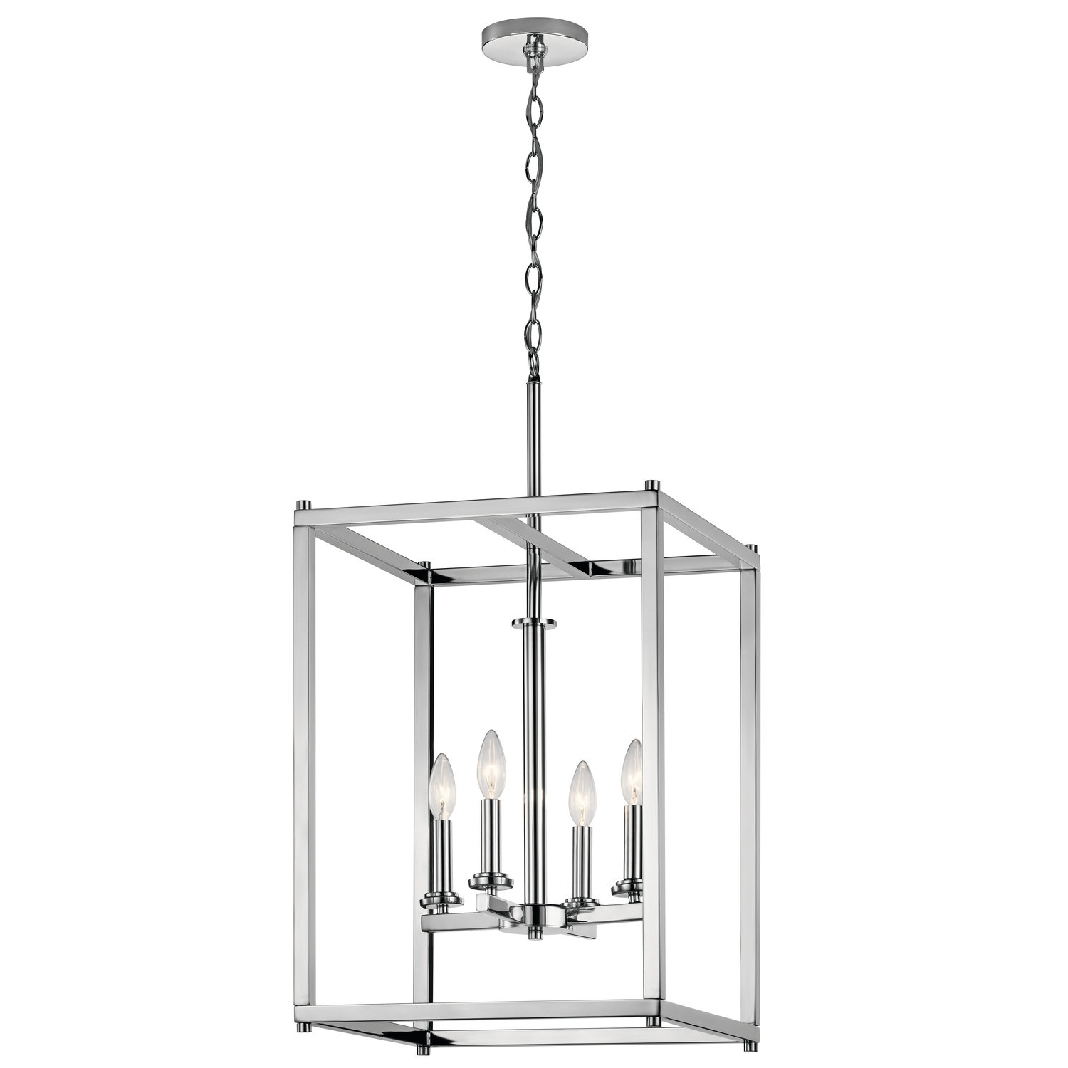 Most Recent Chelsie 4 Light Square/rectangle Chandelier With Regard To Delon 4 Light Square Chandeliers (View 14 of 25)