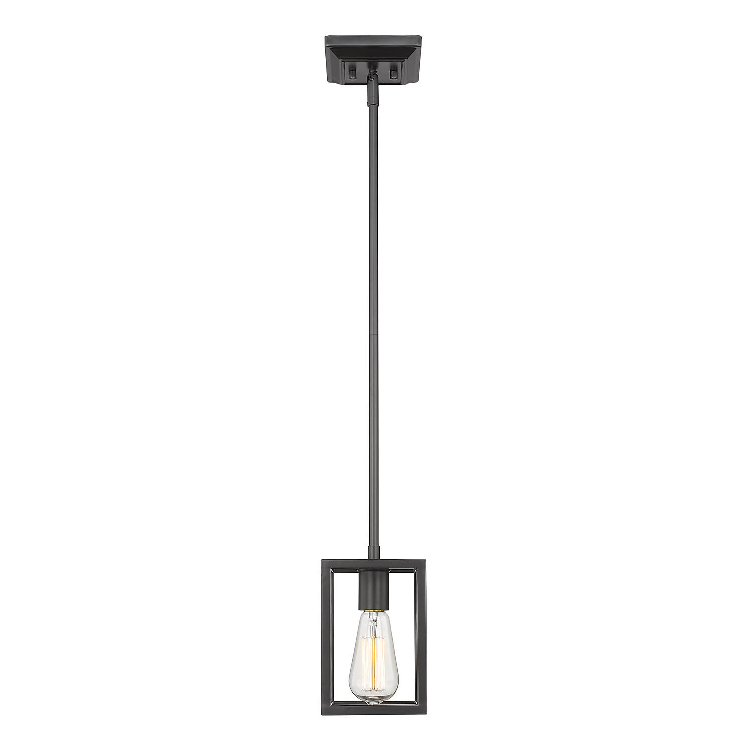 Most Recent Cinchring 1 Light Cone Pendants In Mizer 1 Light Square/rectangle Pendant (View 17 of 25)
