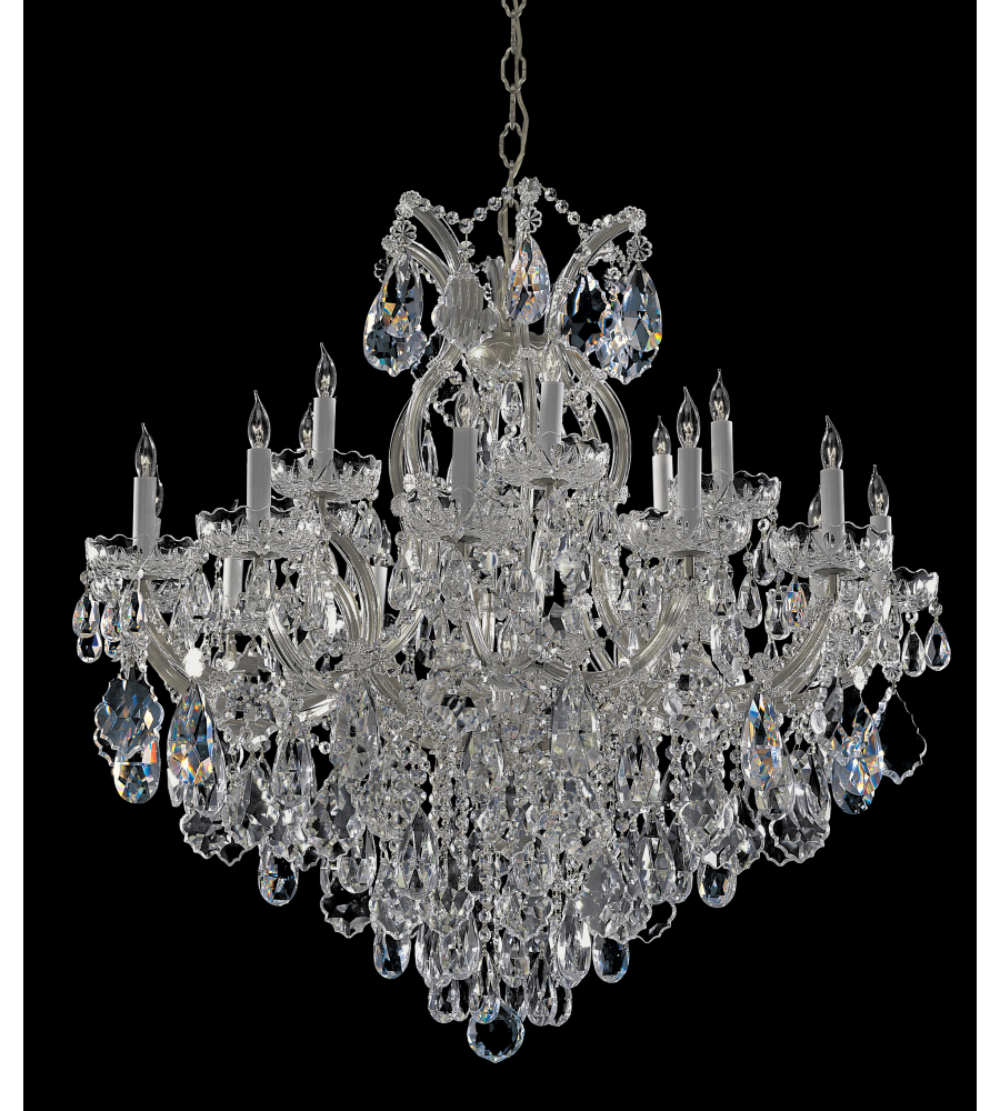 Most Recent Crystorama 4418 Ch Cl Mwp Maria Theresa 19 Light Chandelier In Polished  Chrome For Thresa 5 Light Shaded Chandeliers (View 21 of 25)