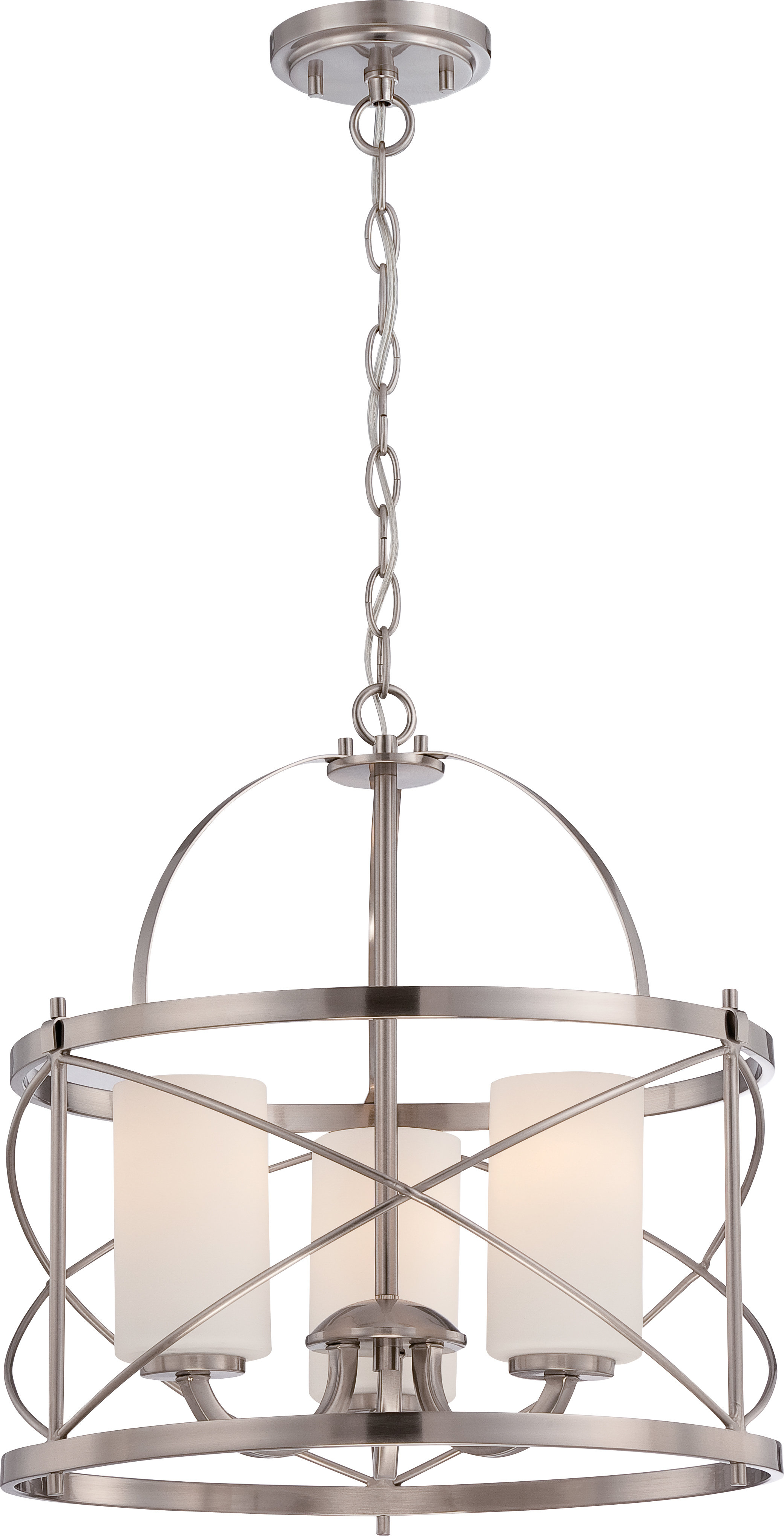 Featured Photo of Farrier 3 Light Lantern Drum Pendants
