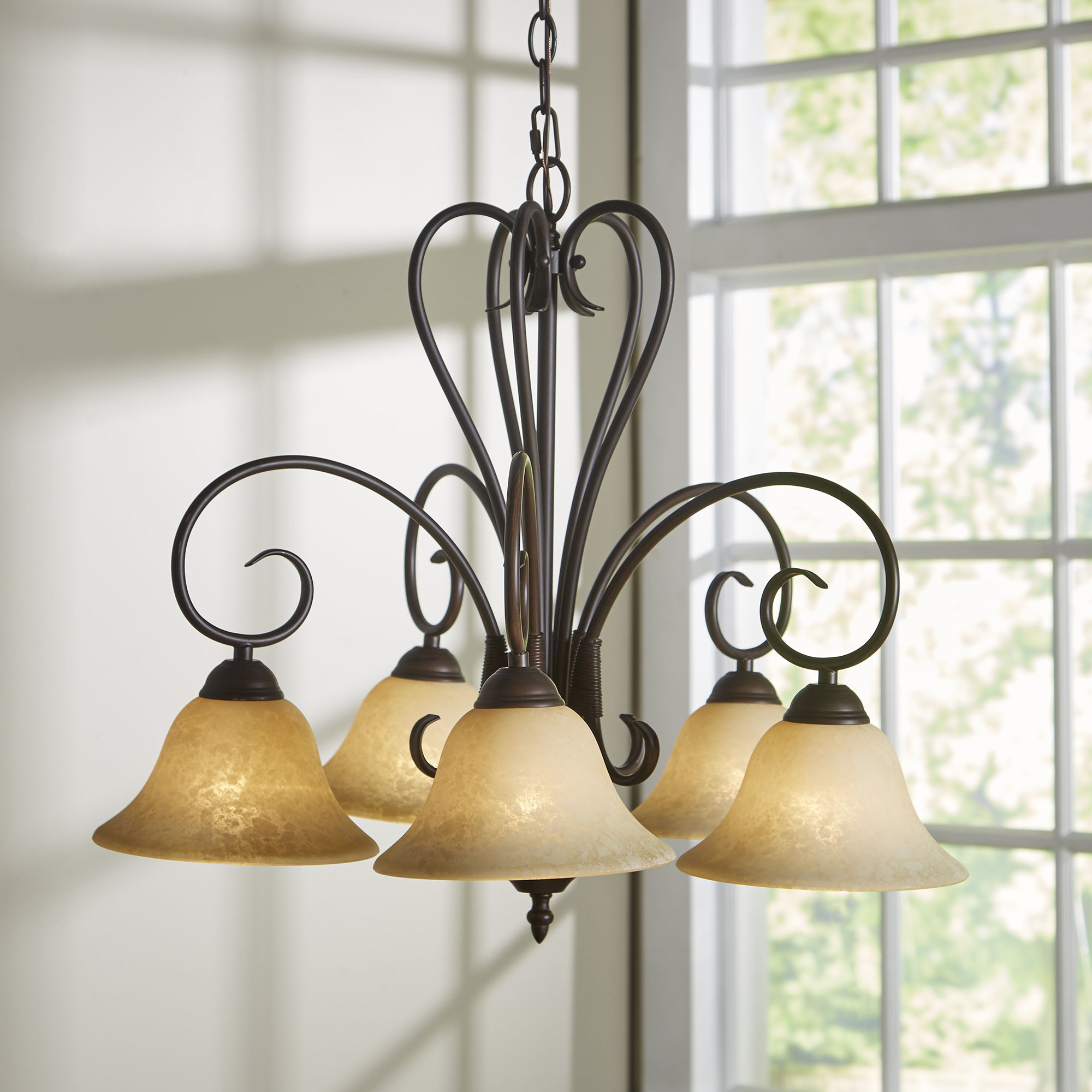 Most Recent Gaines 5 Light Shaded Chandelier Throughout Newent 5 Light Shaded Chandeliers (View 11 of 25)