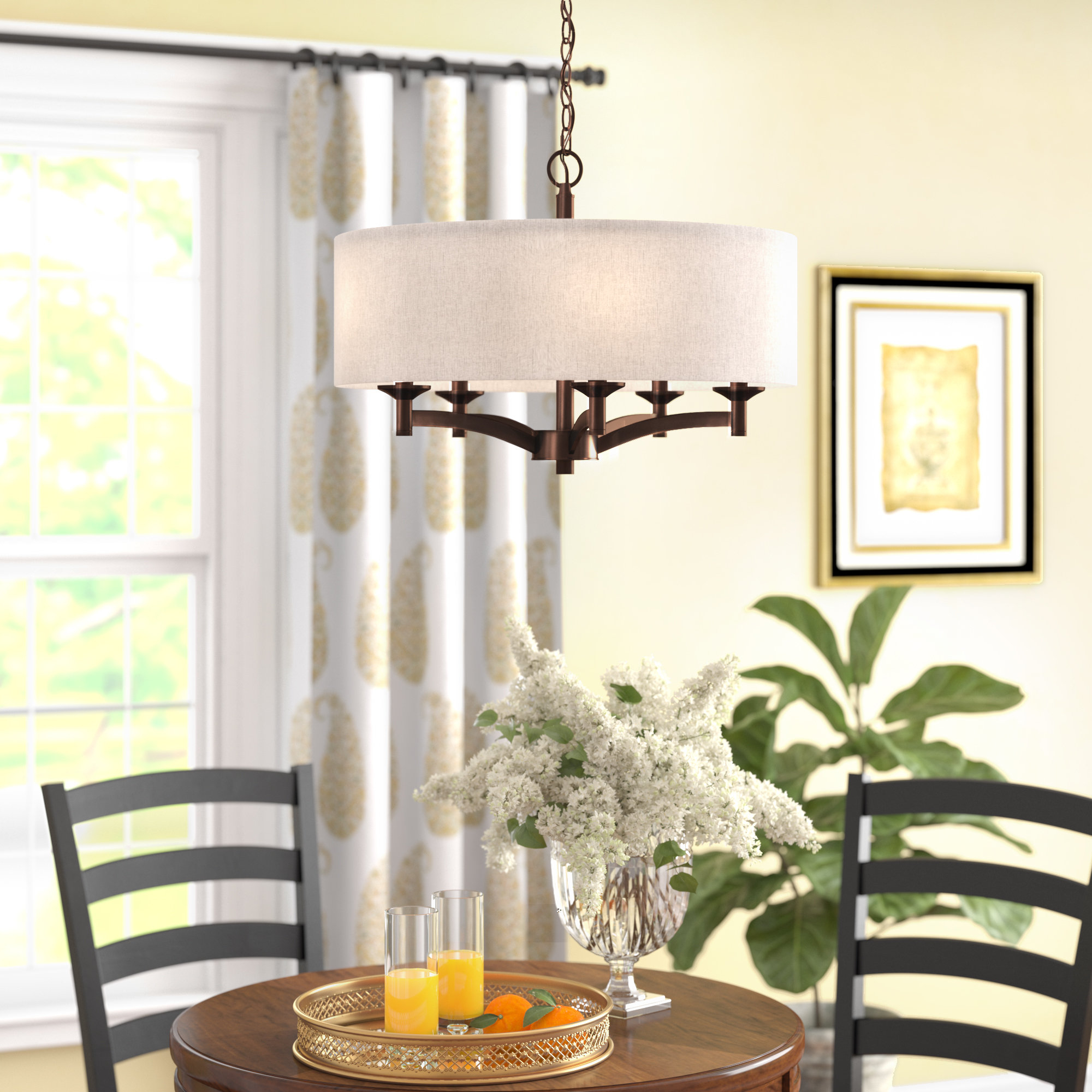 Most Recent Harlan 5 Light Drum Chandeliers Pertaining To Harlan 5 Light Drum Chandelier (View 3 of 25)