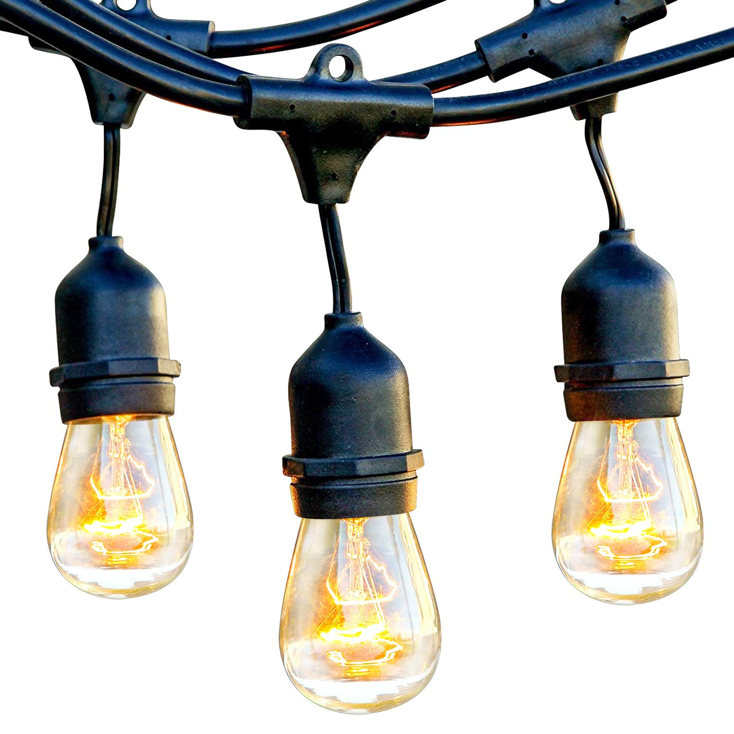 Most Recent Hendry 4 Light Globe Chandeliers In Brightech Ambience Pro – Waterproof Outdoor String Lights – Hanging  Industrial 11W Edison Bulbs – 48 Ft Vintage Bistro Lights – Create Great  Ambience (View 24 of 25)