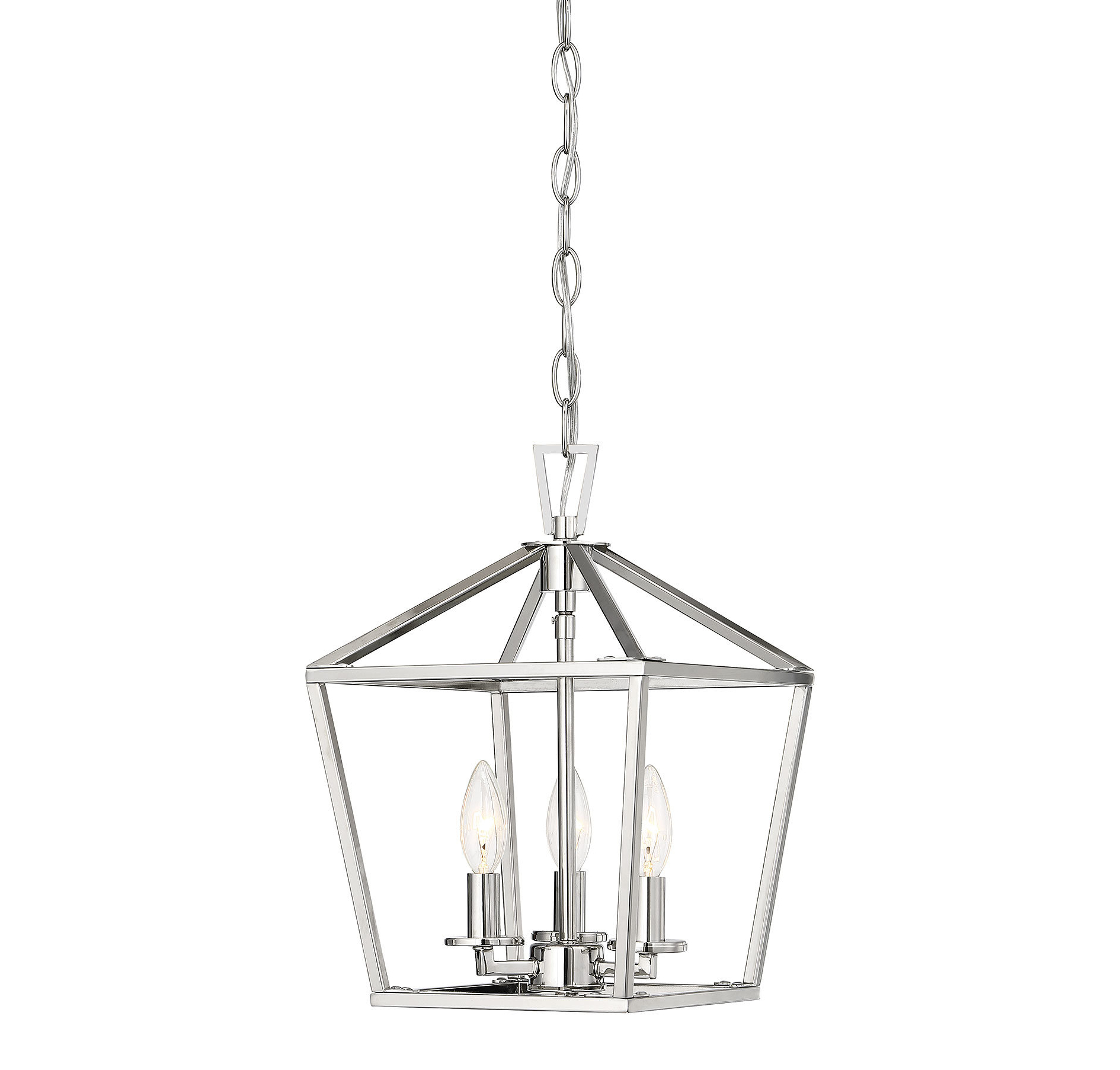 "Most Recent Louanne 3 Light Lantern Geometric Pendants Intended For Geometric Mini (Less Than 10"" Wide) Pendant Lighting You'll (View 14 of 25)"