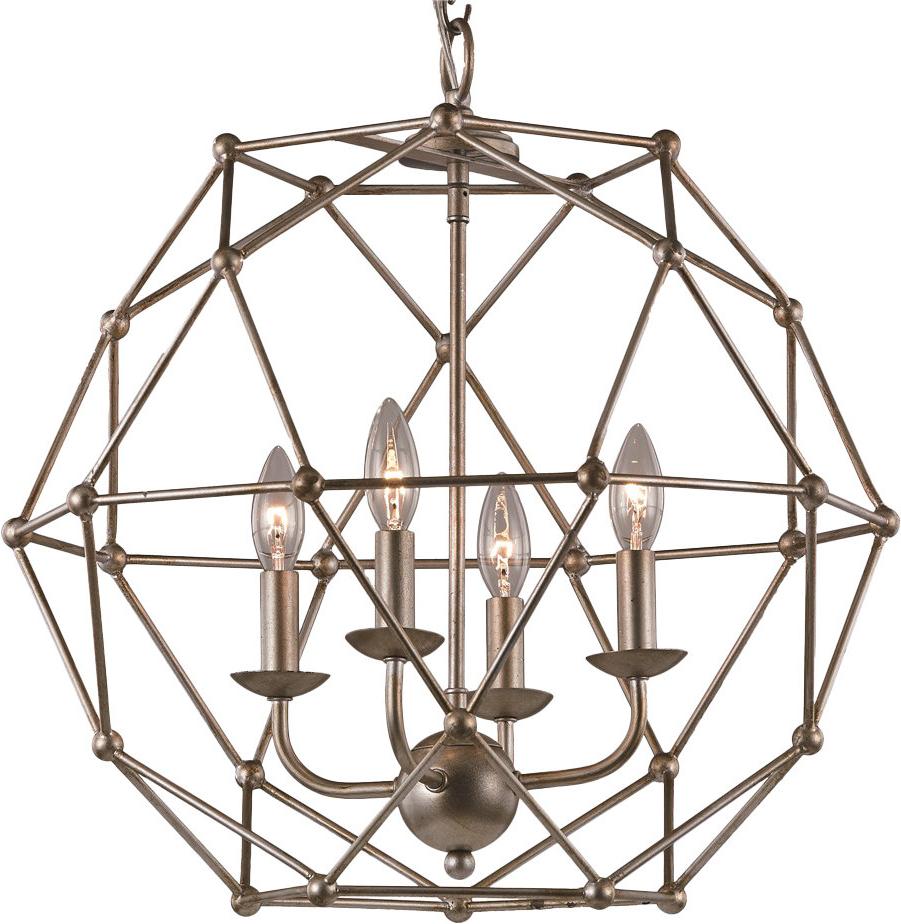 Most Recent Mercury Row Cavanagh 4 Light Geometric Chandelier Throughout Cavanagh 4 Light Geometric Chandeliers (View 7 of 25)