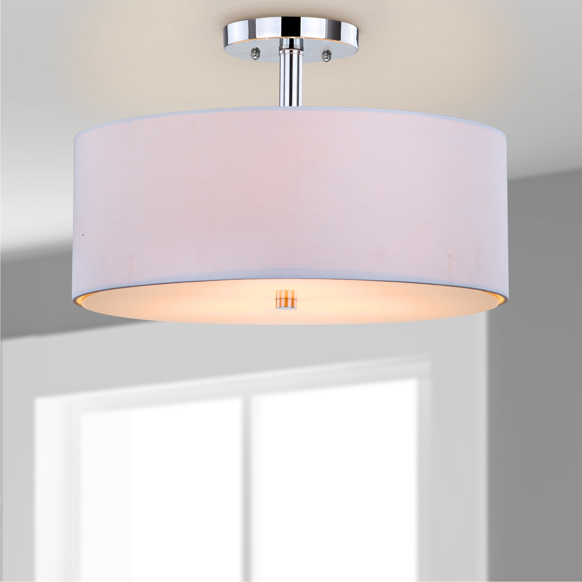 Most Recent Radtke 3 Light Single Drum Pendants With Billie 3 Light Semi Flush Mount (View 9 of 25)
