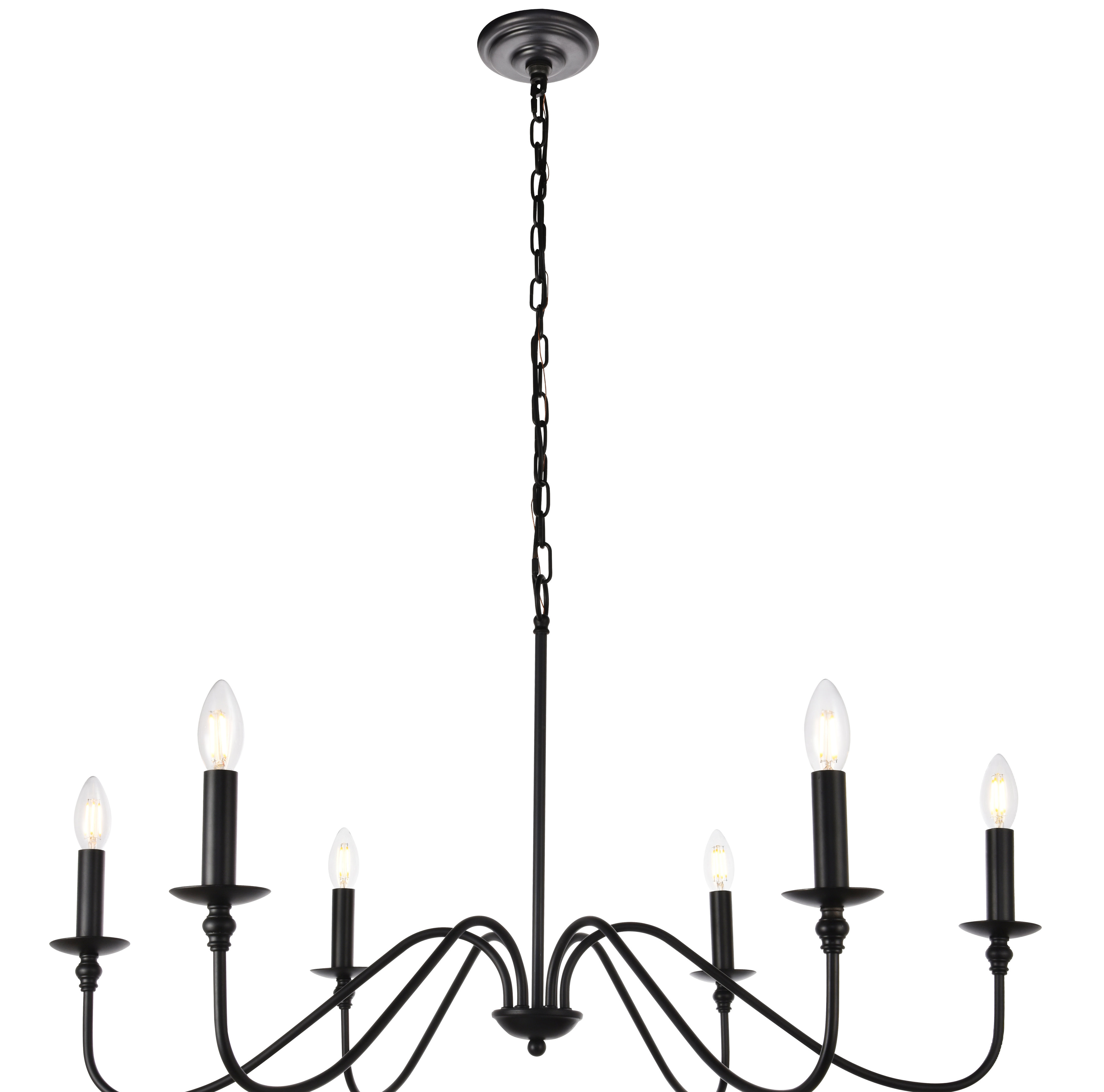 Most Recent Shaylee 6 Light Candle Style Chandeliers Regarding Hamza 6 Light Candle Style Chandelier (View 17 of 25)