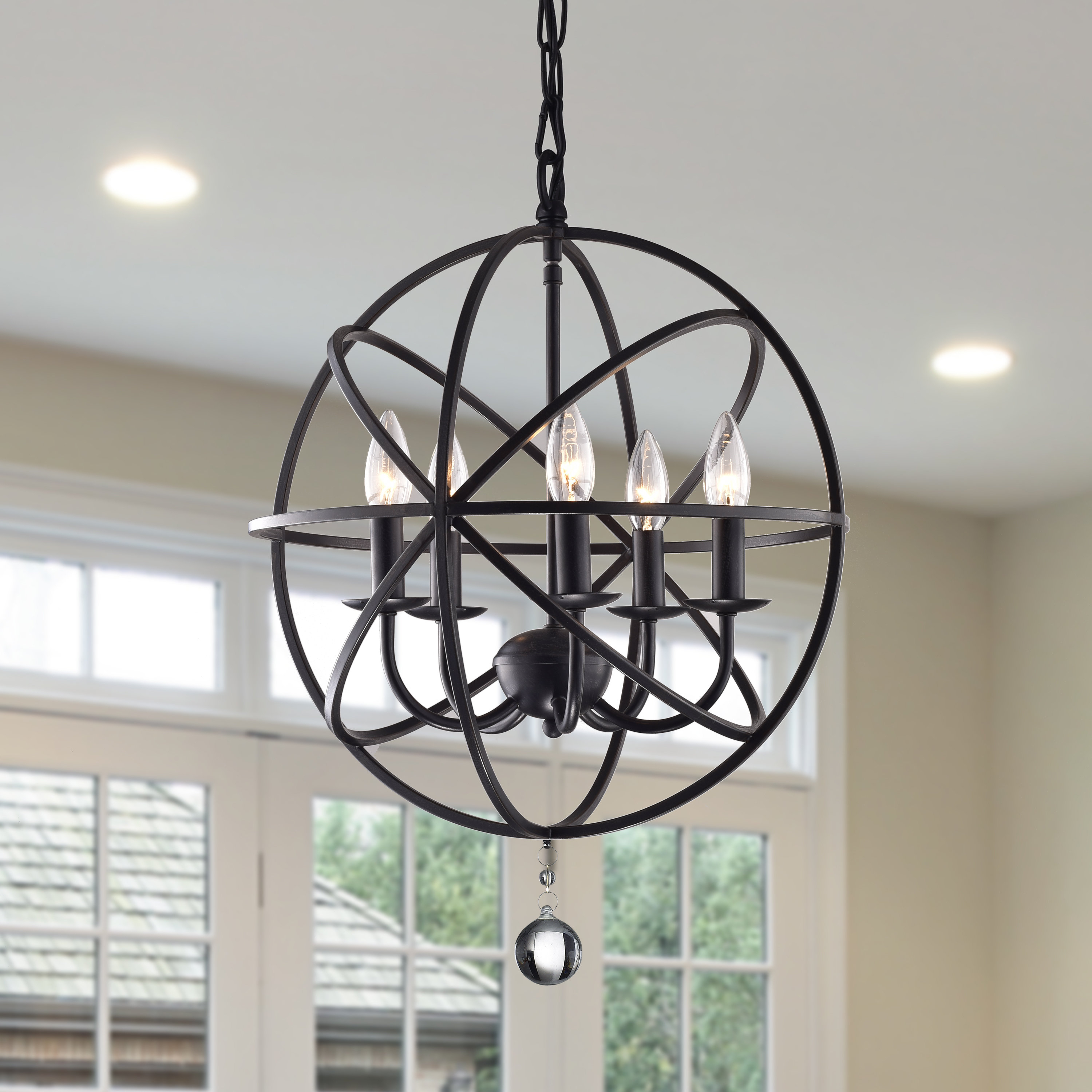 Most Recent Shipststour 3 Light Globe Chandeliers Intended For Verlene Foyer 5 Light Globe Chandelier & Reviews (View 7 of 25)