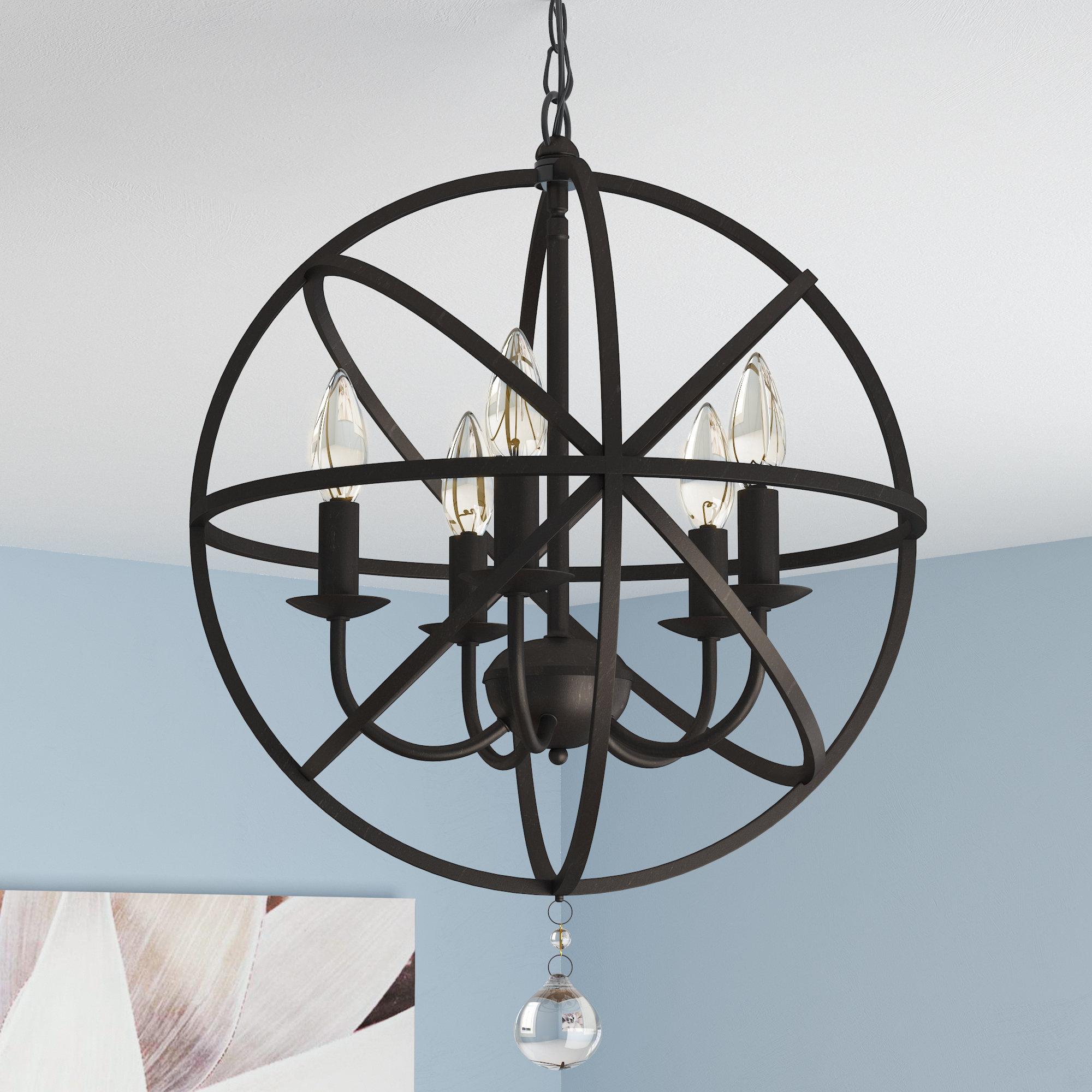 Most Recent Verlene Foyer 5 Light Globe Chandelier Regarding Verlene Foyer 5 Light Globe Chandeliers (View 2 of 25)