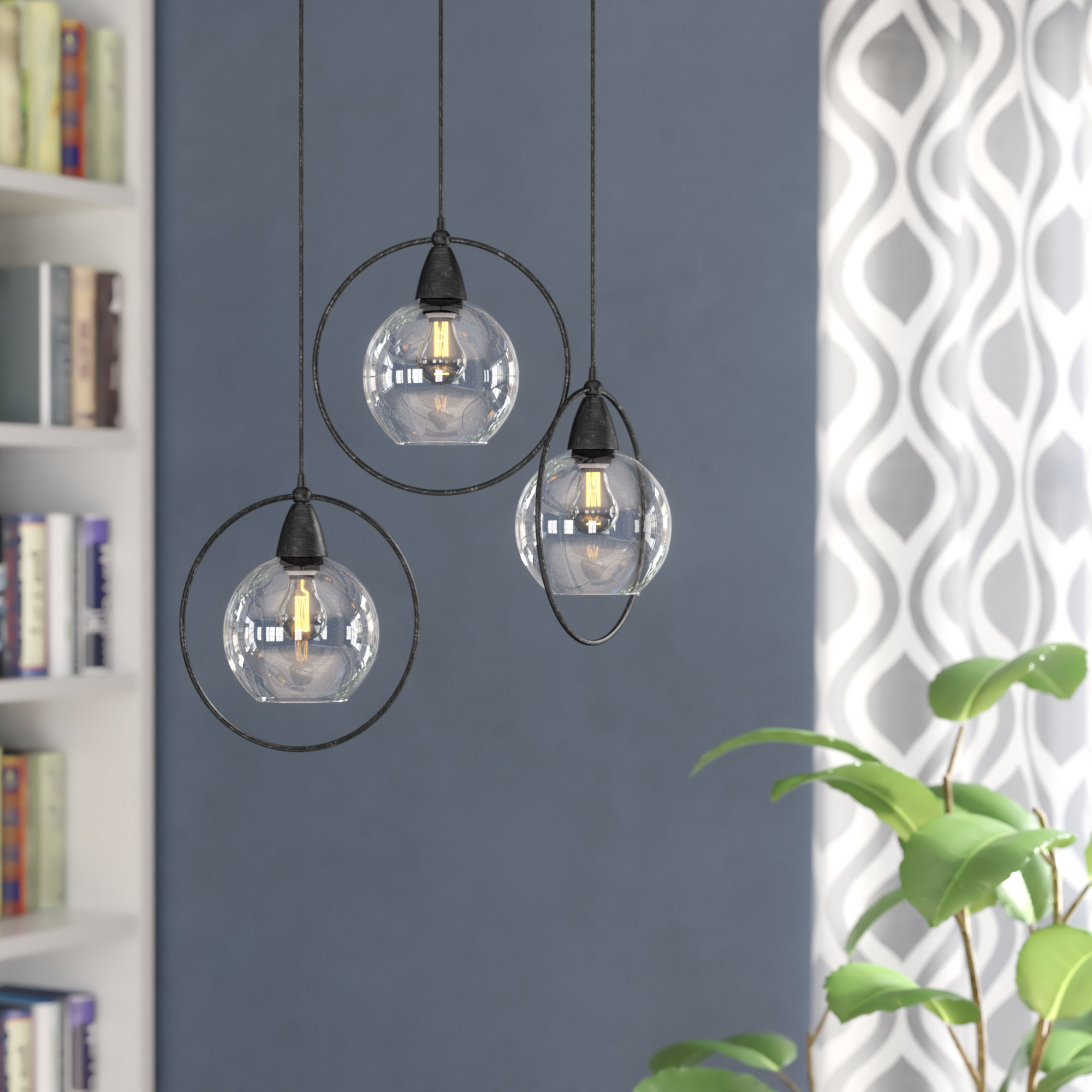 Most Recent Vernice 3 Light Cluster Bell Pendants Within Wrought Studio Mouton 3 Light Cluster Pendant (View 11 of 25)