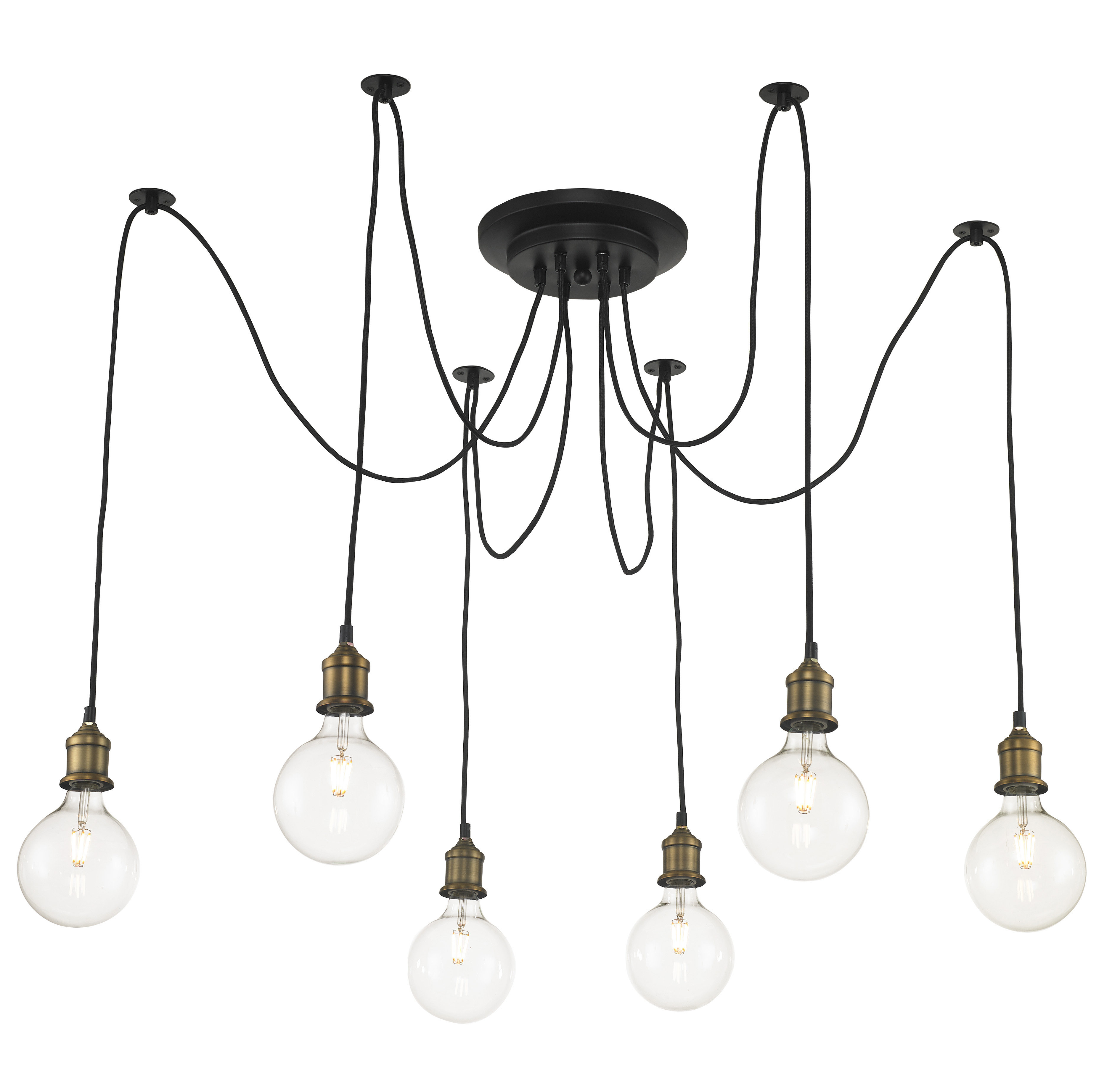 Most Recently Released 4 – 6 Light Cluster Pendant Lighting You'll Love In 2019 With Schutt 5 Light Cluster Pendants (View 12 of 25)