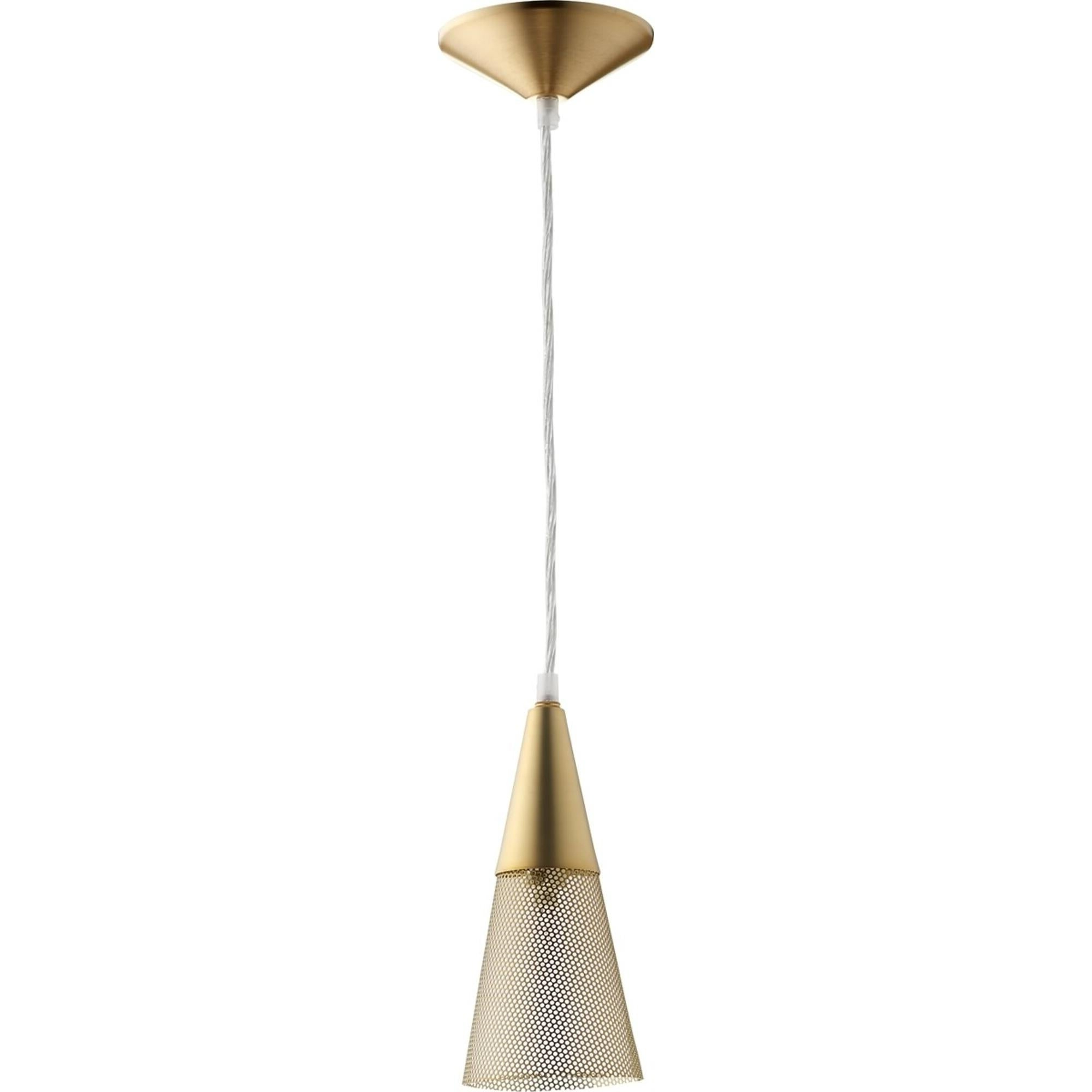 Most Recently Released Aged Brass 1 Light Mesh Mini Pendant For Edmundo 1 Light Unique / Statement Geometric Pendants (View 25 of 25)