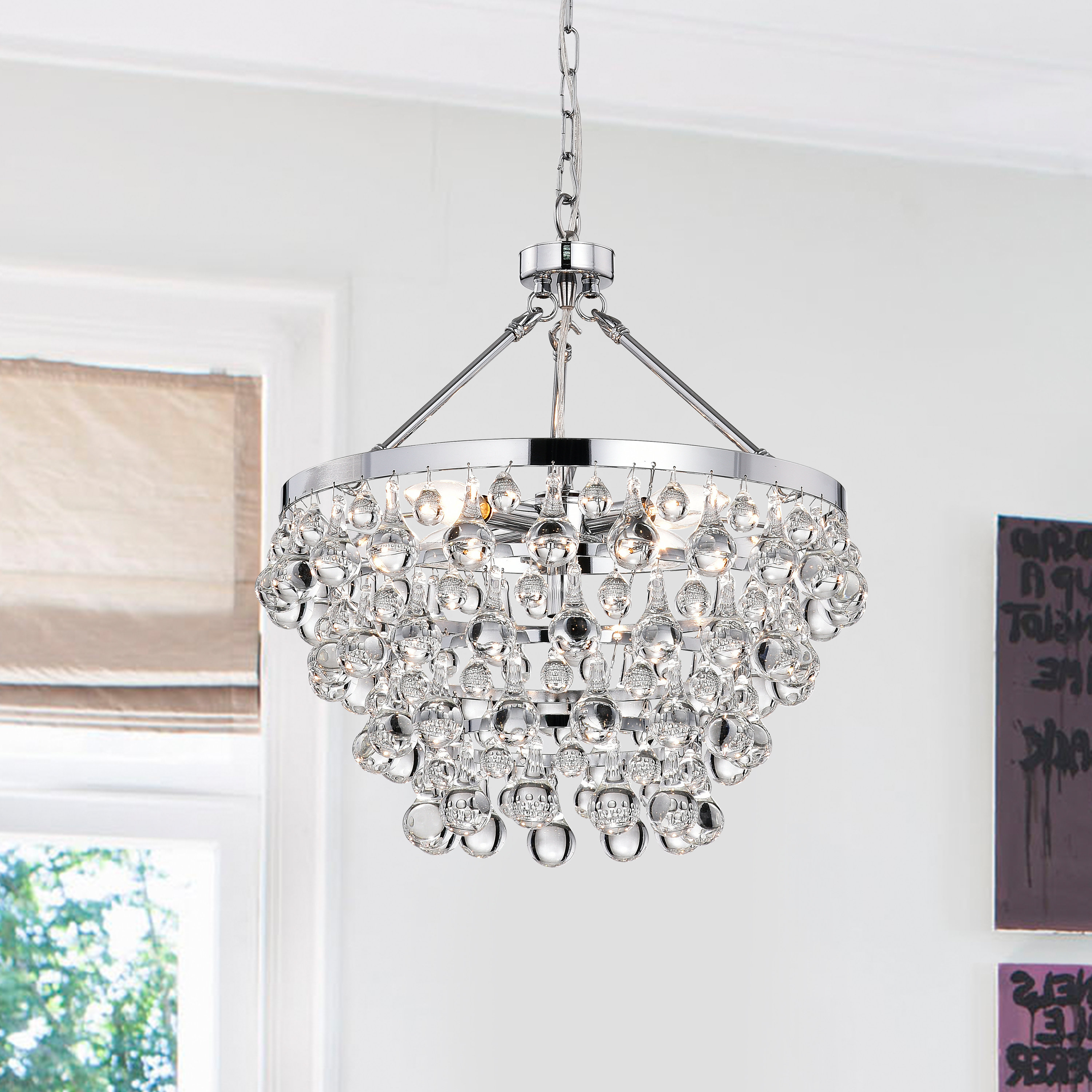 Most Recently Released Ahern 5 Light Crystal Chandelier For Von 4 Light Crystal Chandeliers (View 5 of 25)