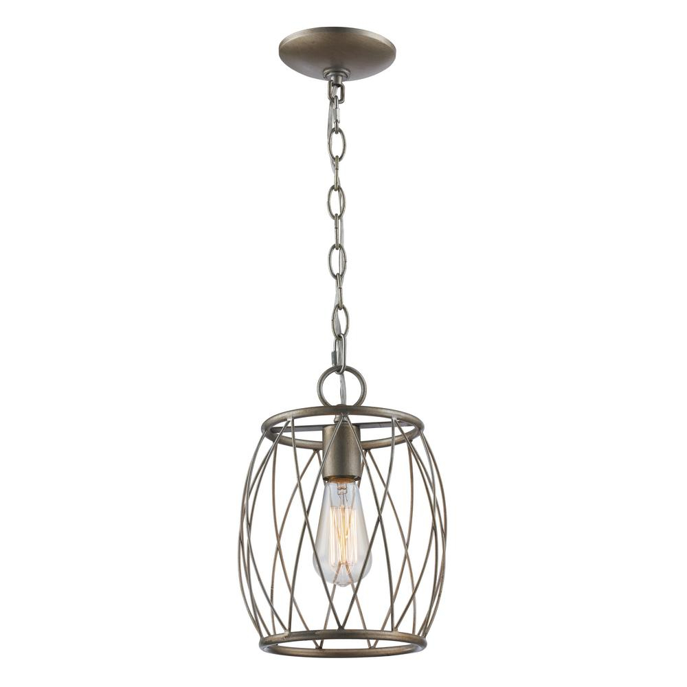 Most Recently Released Bel Air Lighting Rhythm 1 Light Antique Silver Leaf Pendant In Finnick 1 Light Geometric Pendants (View 25 of 25)