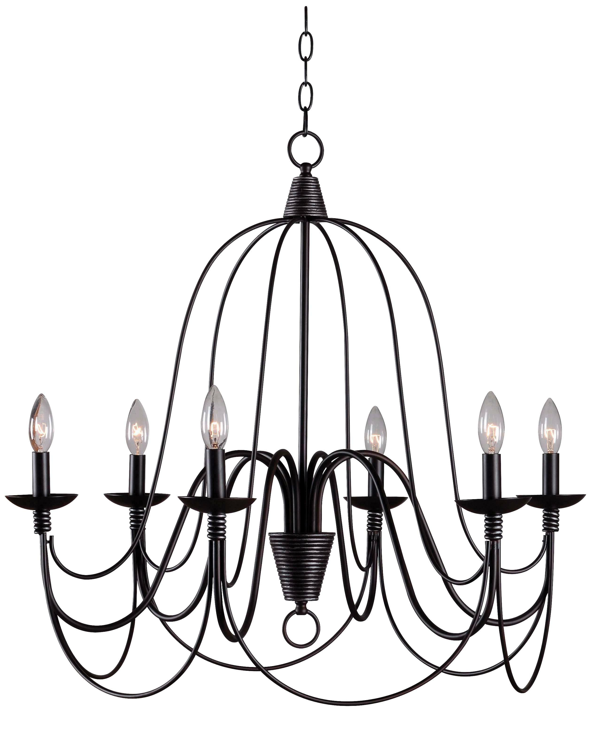 Most Recently Released Camilla 9 Light Candle Style Chandeliers In Kollman 6 Light Candle Style Chandelier (View 15 of 25)