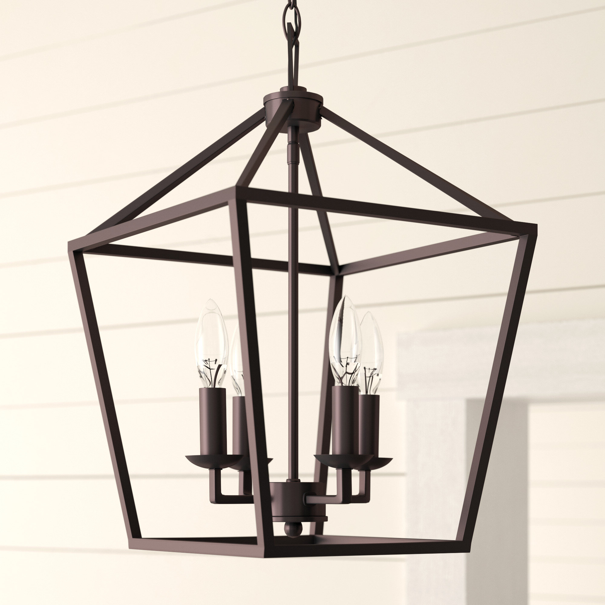 Most Recently Released Carmen 4 Light Lantern Geometric Pendants Inside Laurel Foundry Modern Farmhouse Carmen 4 Light Lantern Geometric Pendant (View 18 of 25)
