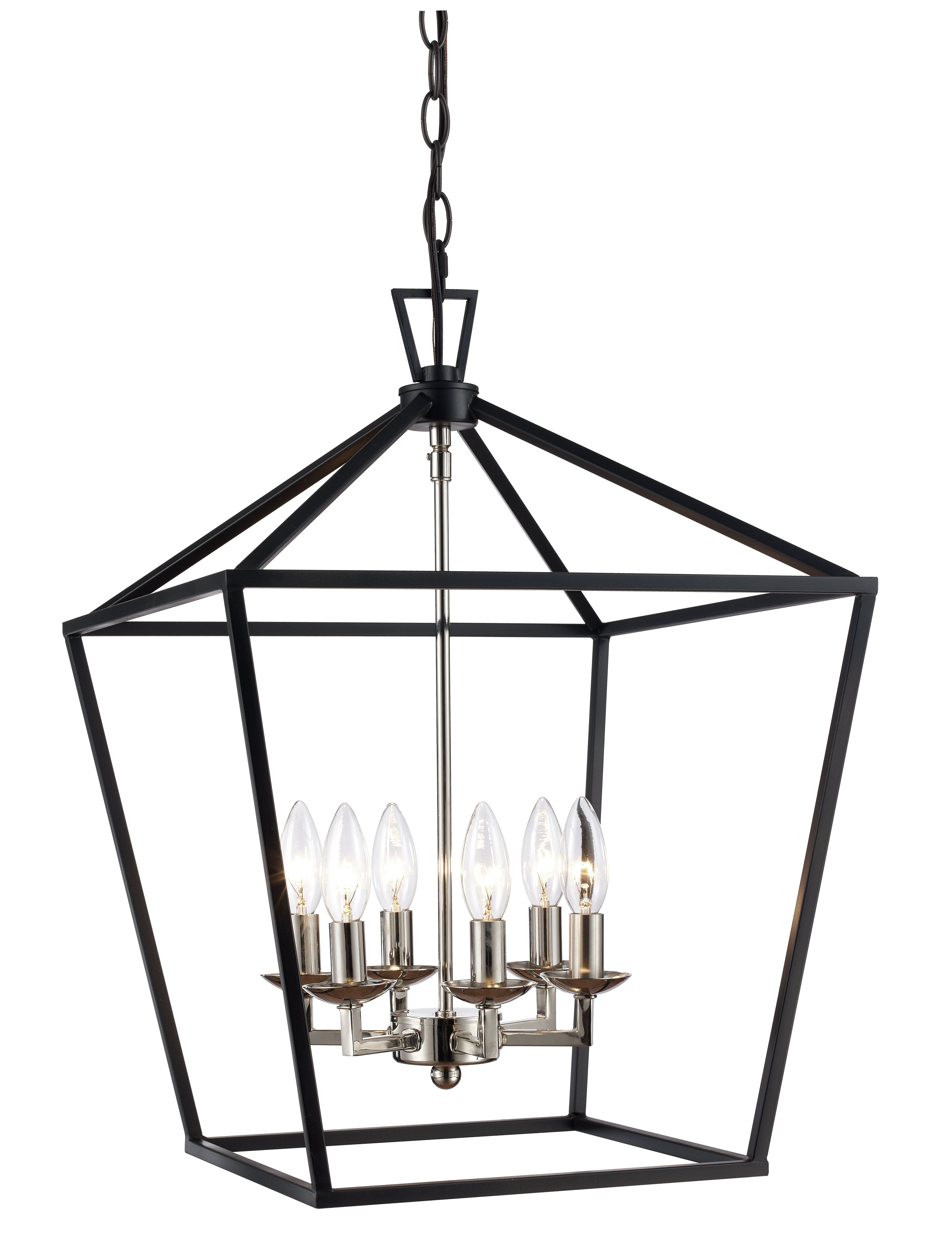 Most Recently Released Carmen 6 Light Lantern Geometric Pendants Throughout Carmen 6 Light Lantern Geometric Pendant (View 4 of 25)