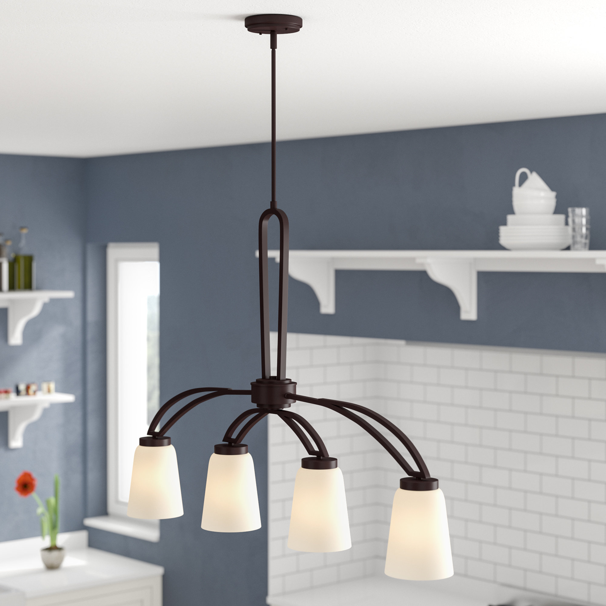 Most Recently Released Casias 4 Light Kitchen Island Pendant Regarding Zachery 5 Light Led Cluster Pendants (View 12 of 25)