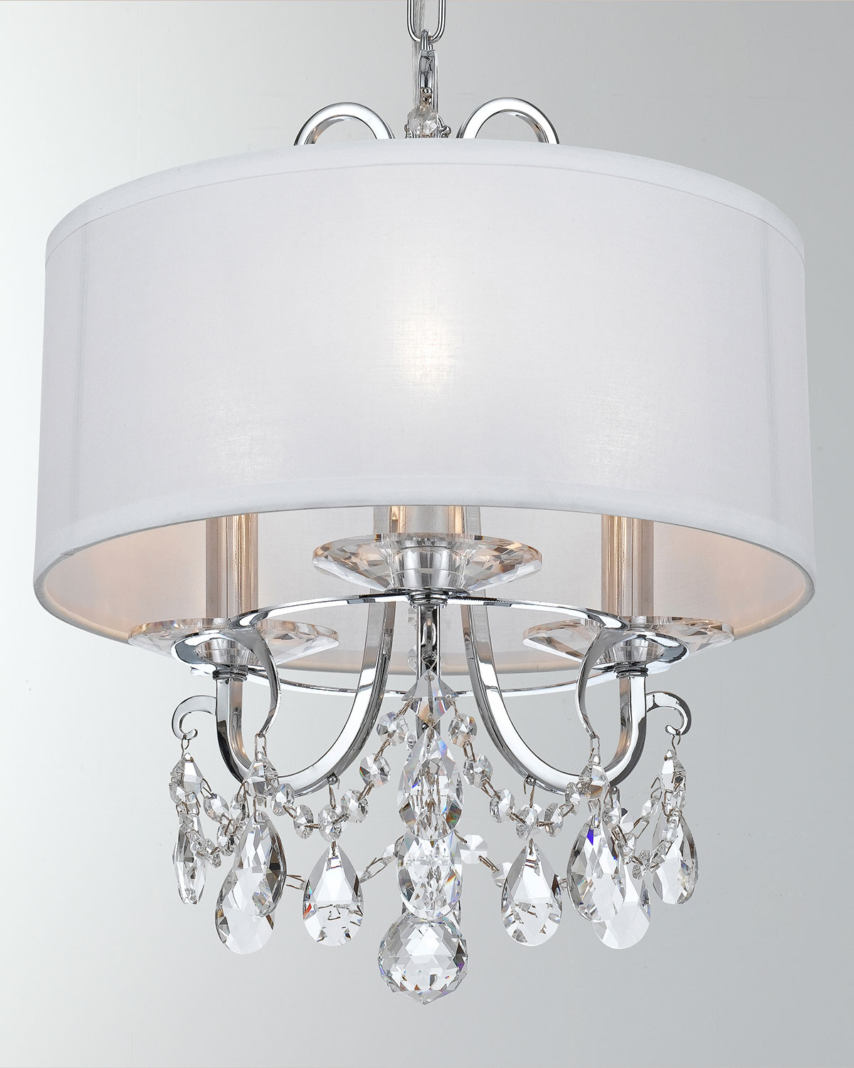 Most Recently Released Crystorama Othello 3 Light Clear Crystal Polished Chrome For Alverez 4 Light Drum Chandeliers (View 19 of 25)