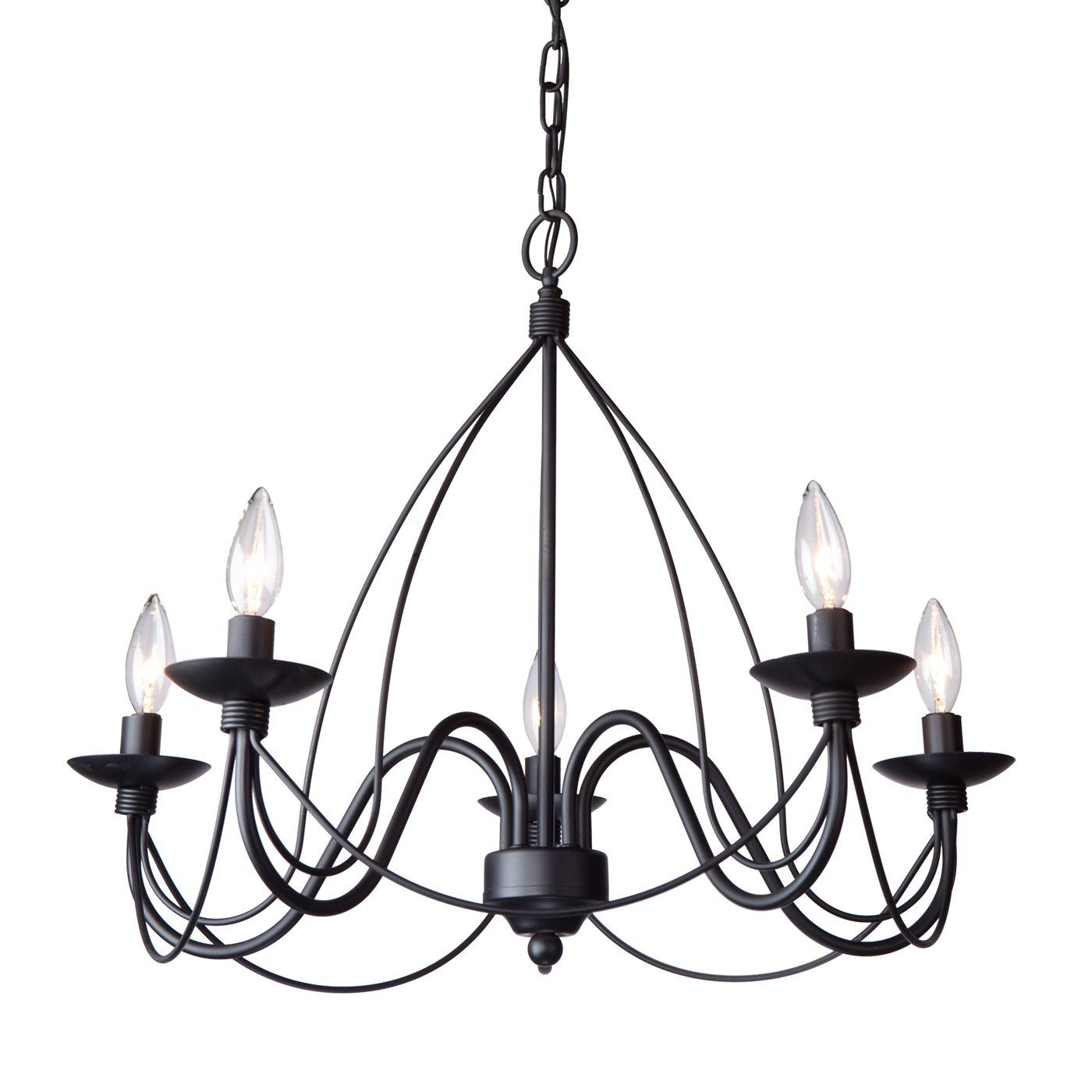 Most Recently Released Diaz 6 Light Candle Style Chandeliers Intended For Artcraft Lighting Ac1485 Wrought Iron 5 Light Chandelier (View 12 of 25)
