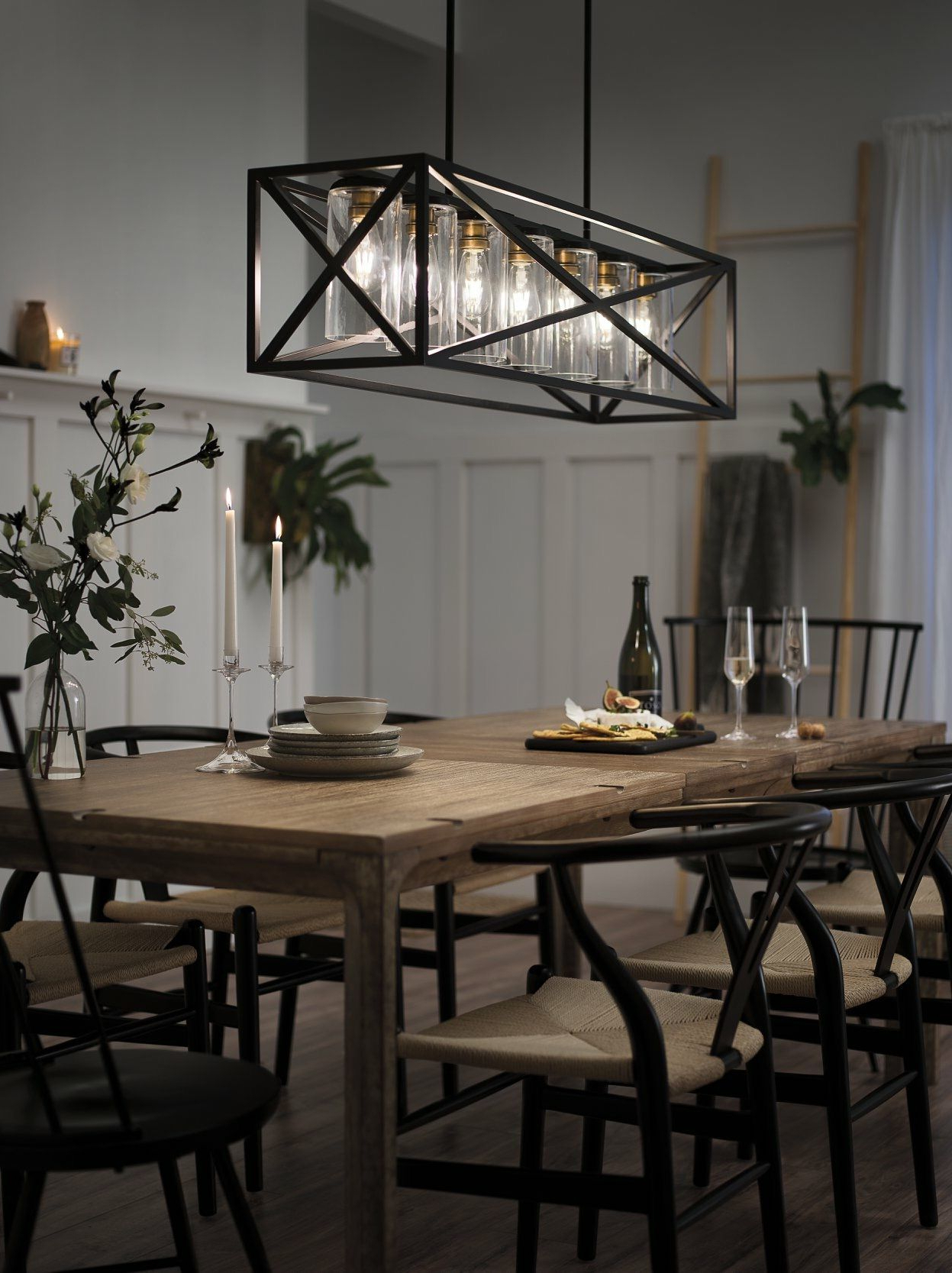 Most Recently Released Kichler Linear Chandelier In Dining Room (View 20 of 25)