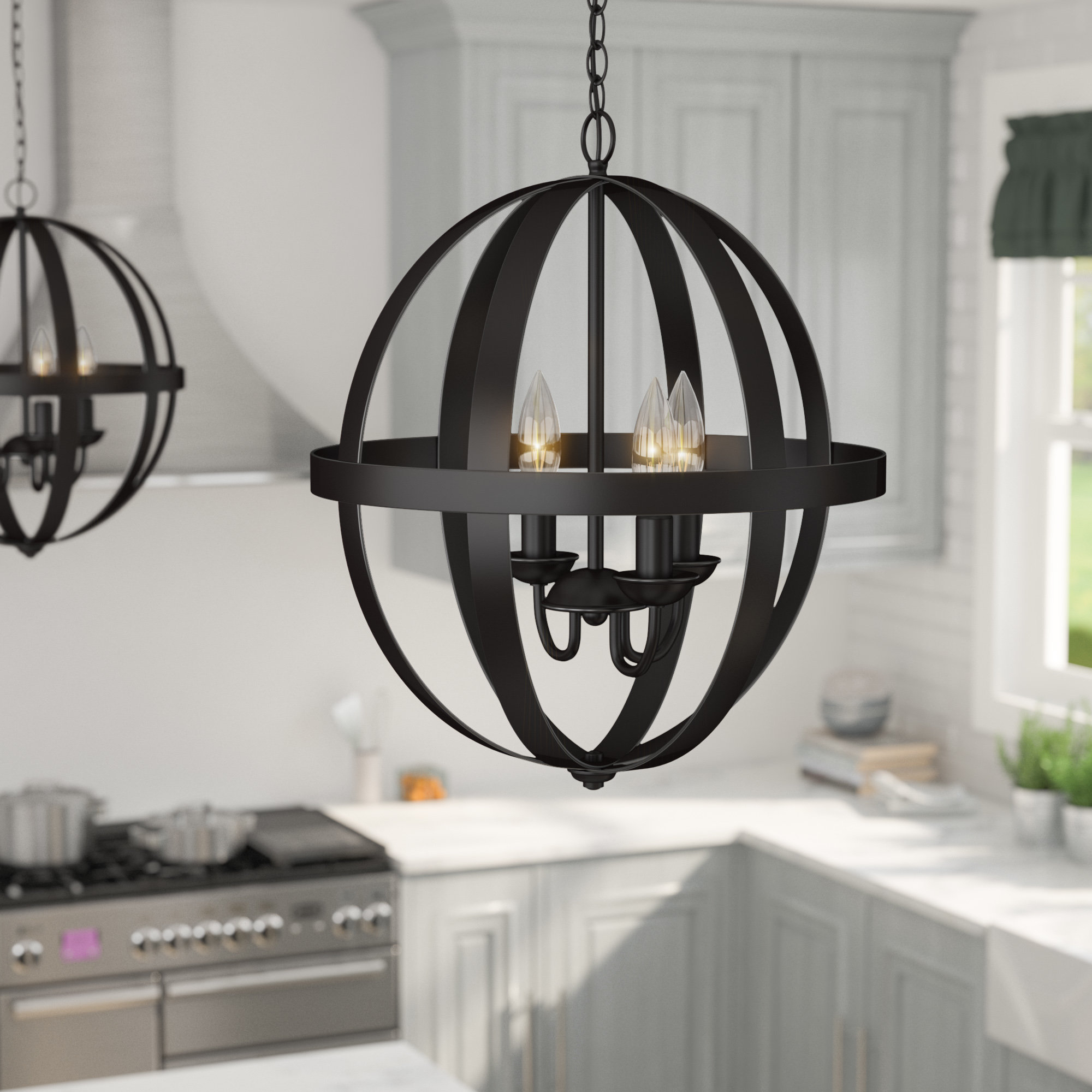 Most Recently Released La Barge 3 Light Globe Chandelier Within Shipststour 3 Light Globe Chandeliers (View 16 of 25)