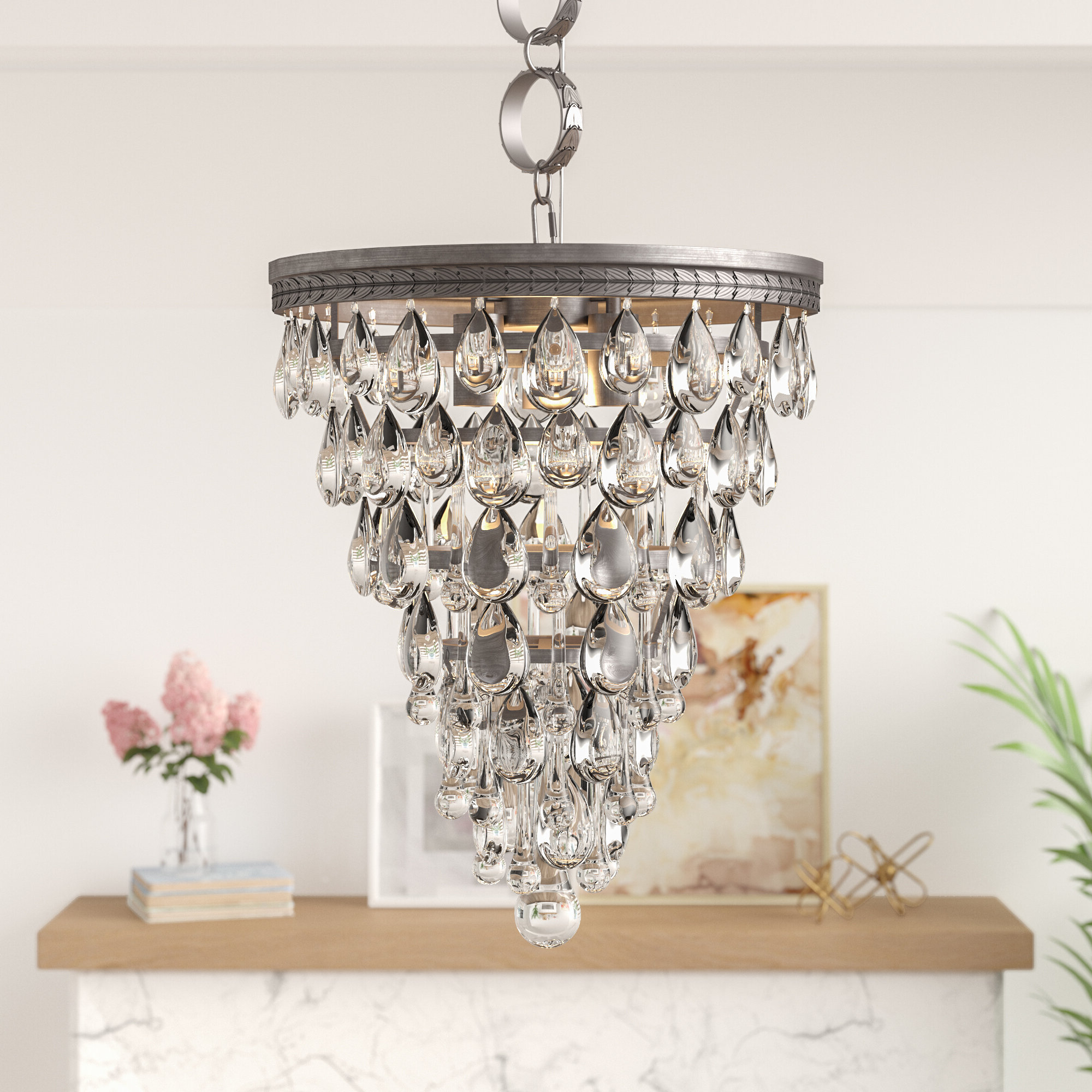 Most Recently Released Lyon 3 Light Unique / Statement Chandelier (View 8 of 25)
