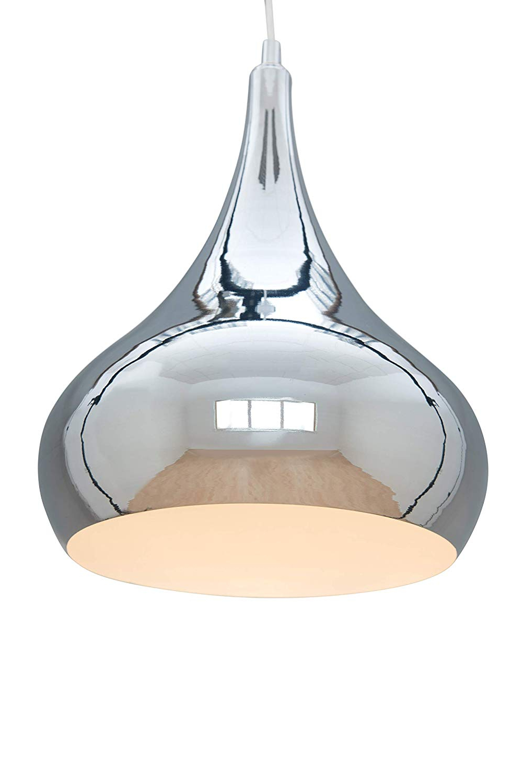 Most Recently Released Neal 5 Light Kitchen Island Teardrop Pendants With Regard To Modern Designer Teardrop Ceiling Pendant Light – Chrome – 34Cm (View 15 of 25)