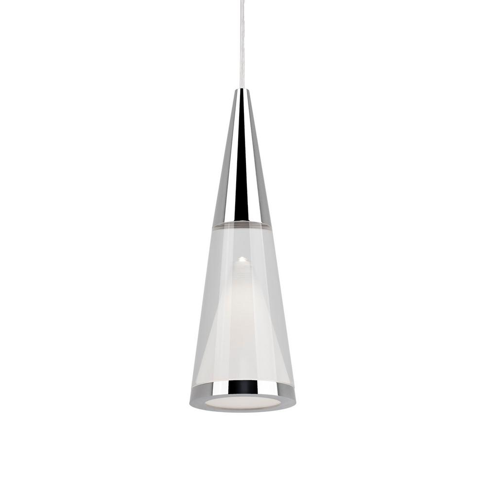 Most Recently Released Radionic Hi Tech Morris 1 Light 40 Watt Equivalence Chrome Integrated Led  Pendant Within Moris 1 Light Cone Pendants (View 9 of 25)