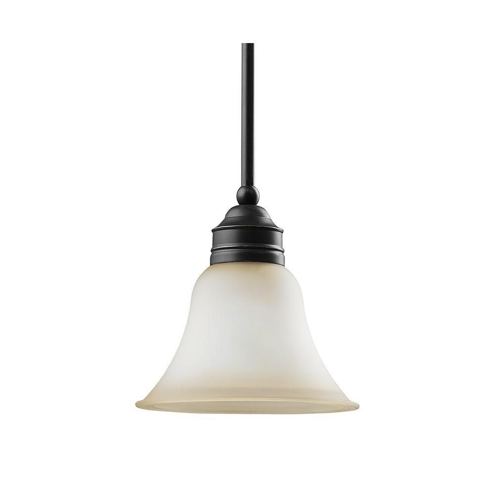Most Recently Released Sea Gull Lighting 61850 782 1 Light Mini Pendant Heirloom Bronze Finish With Kraker 1 Light Single Cylinder Pendants (View 16 of 25)