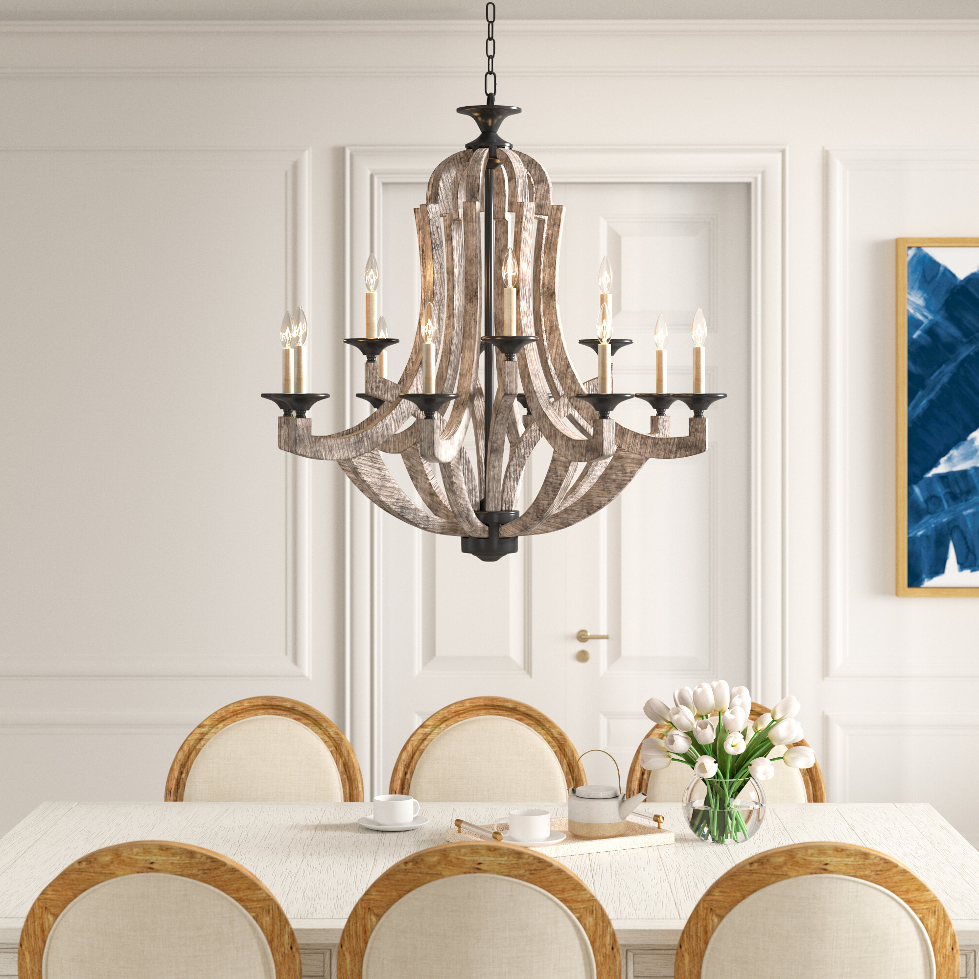 Most Recently Released Shayla 12 Light Wagon Wheel Chandeliers Intended For 11+ Chandeliers (View 8 of 25)