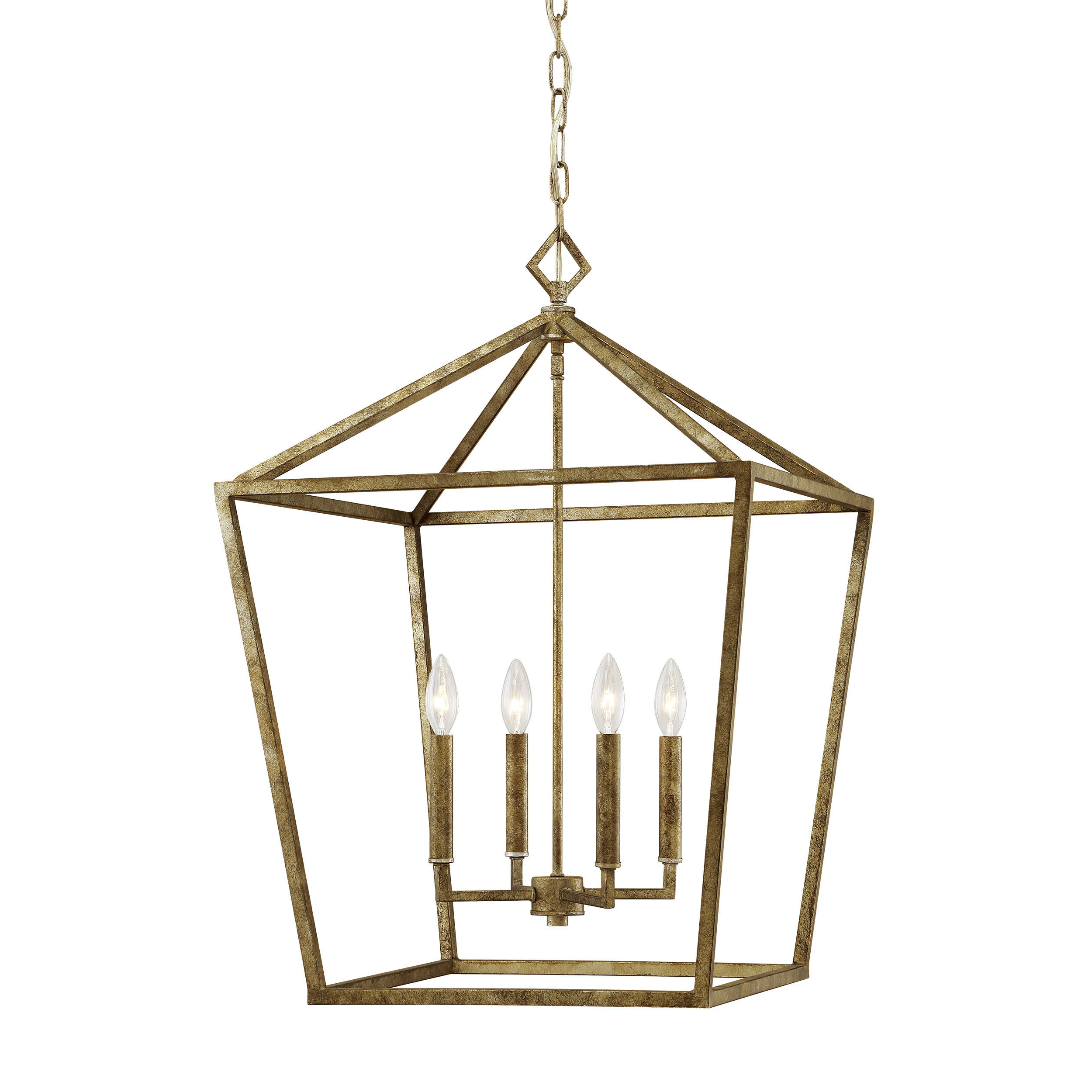 Most Recently Released Taya 4 Light Lantern Square Pendants For Foyer White & Cream Pendant Lighting You'll Love In  (View 14 of 25)