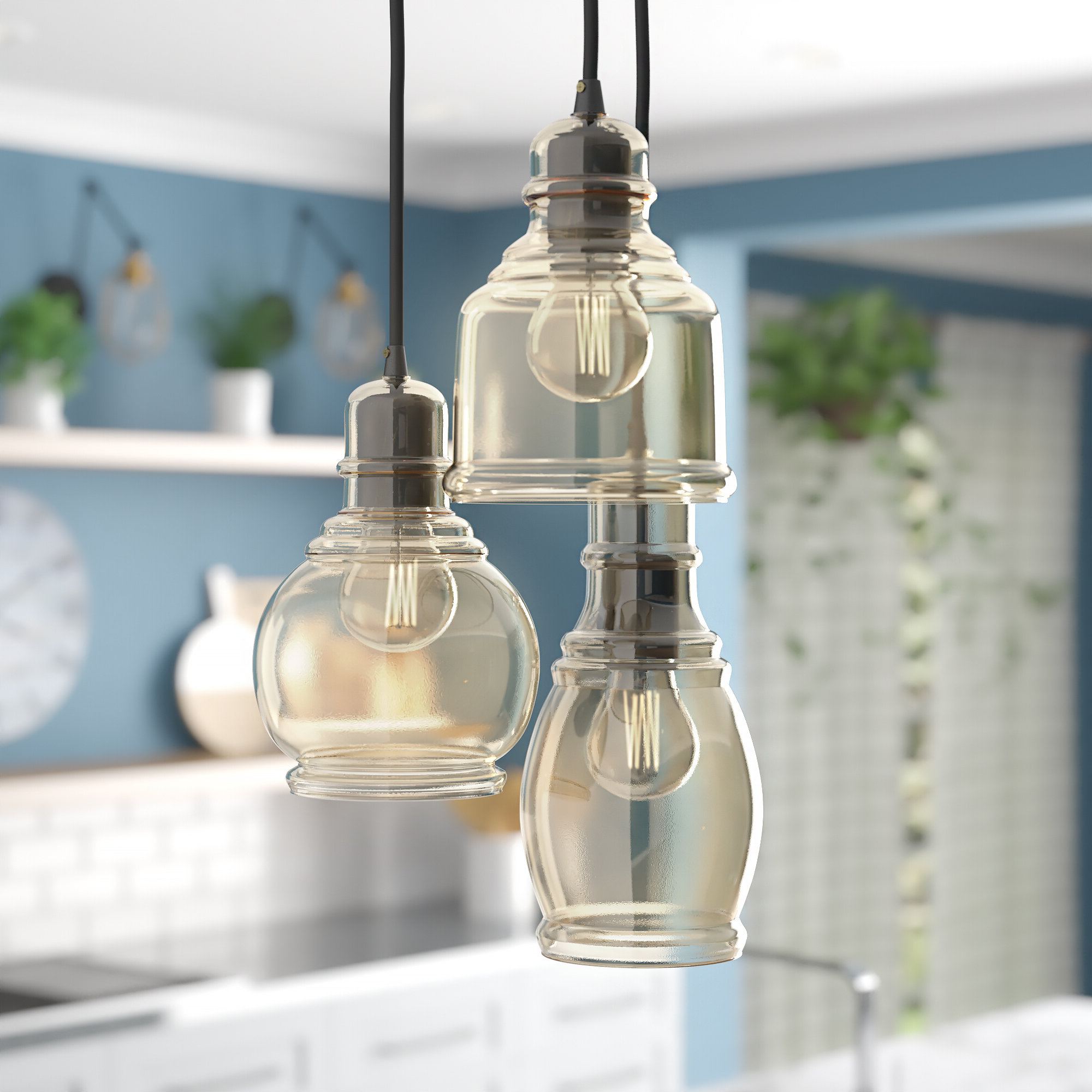 Most Recently Released Vernice 3 Light Cluster Bell Pendants With Regard To Pruett 3 Light Cluster Pendant (View 14 of 25)