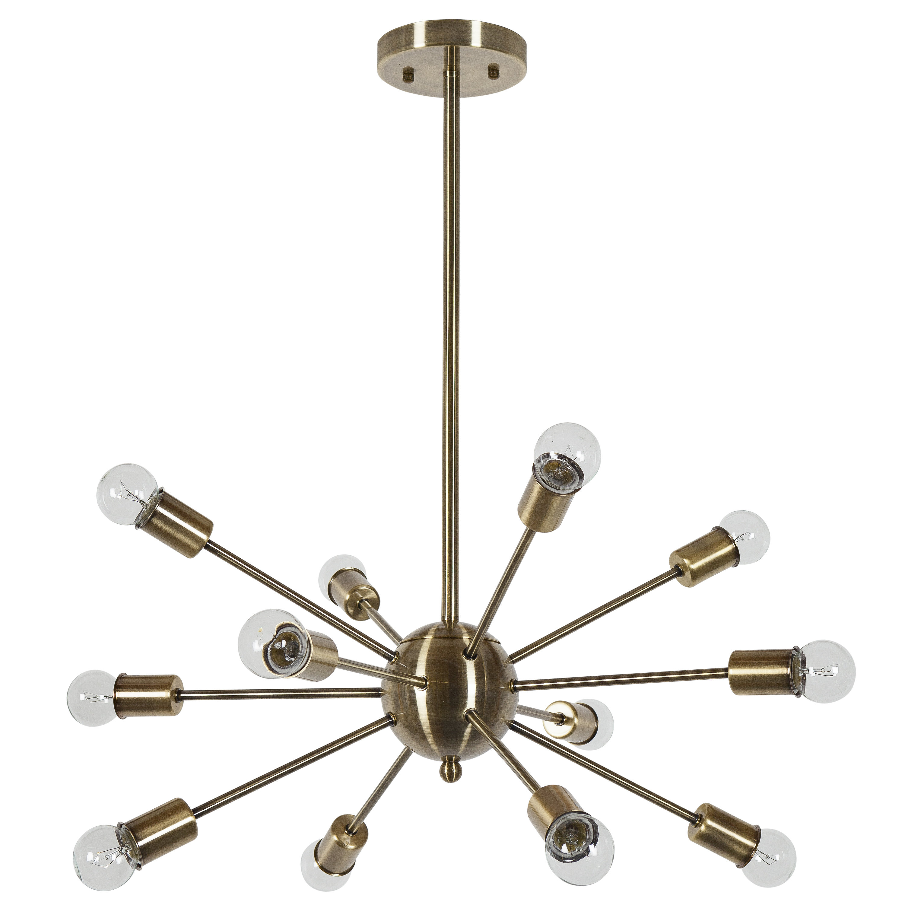 Most Recently Released Vroman 12 Light Sputnik Chandelier Within Defreitas 18 Light Sputnik Chandeliers (View 14 of 25)