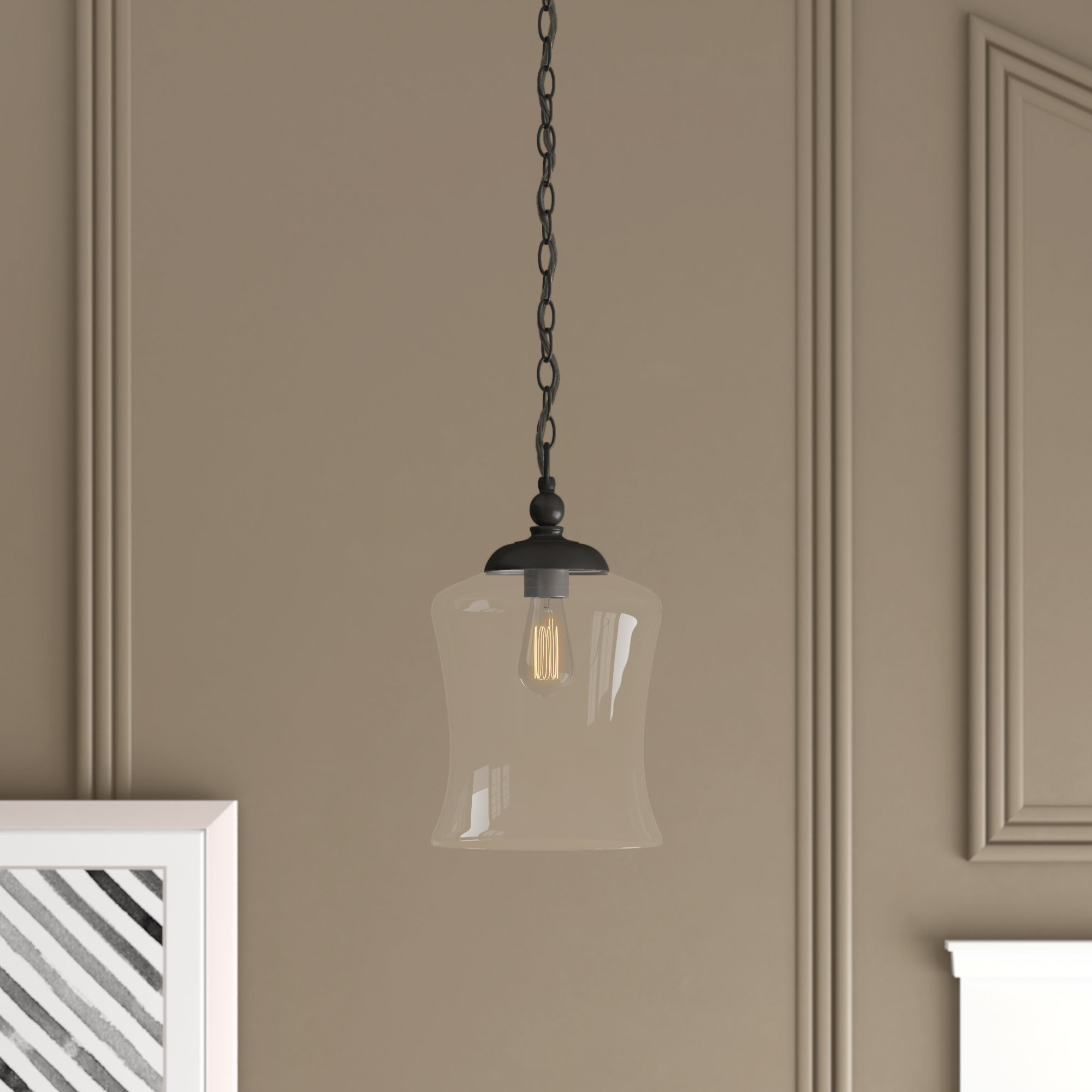 Most Up To Date 1 Light Single Bell Pendants Throughout Wentzville 1 Light Single Bell Pendant (View 6 of 25)